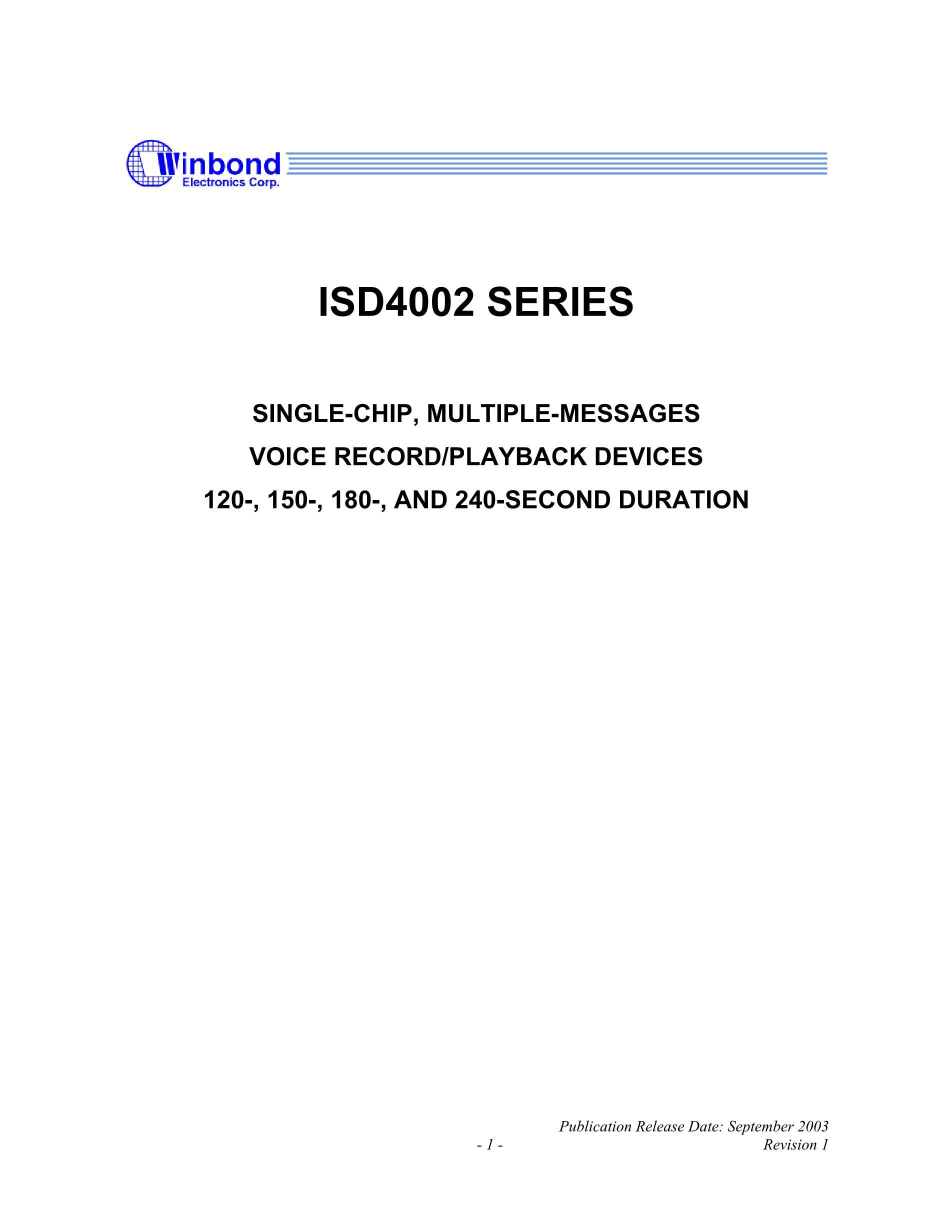 ISD4002-150S's pdf picture 1
