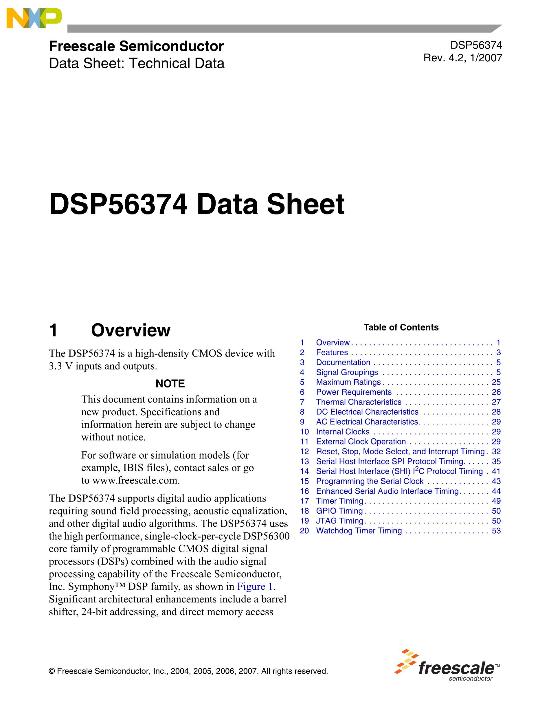 DSPB56720AG's pdf picture 1