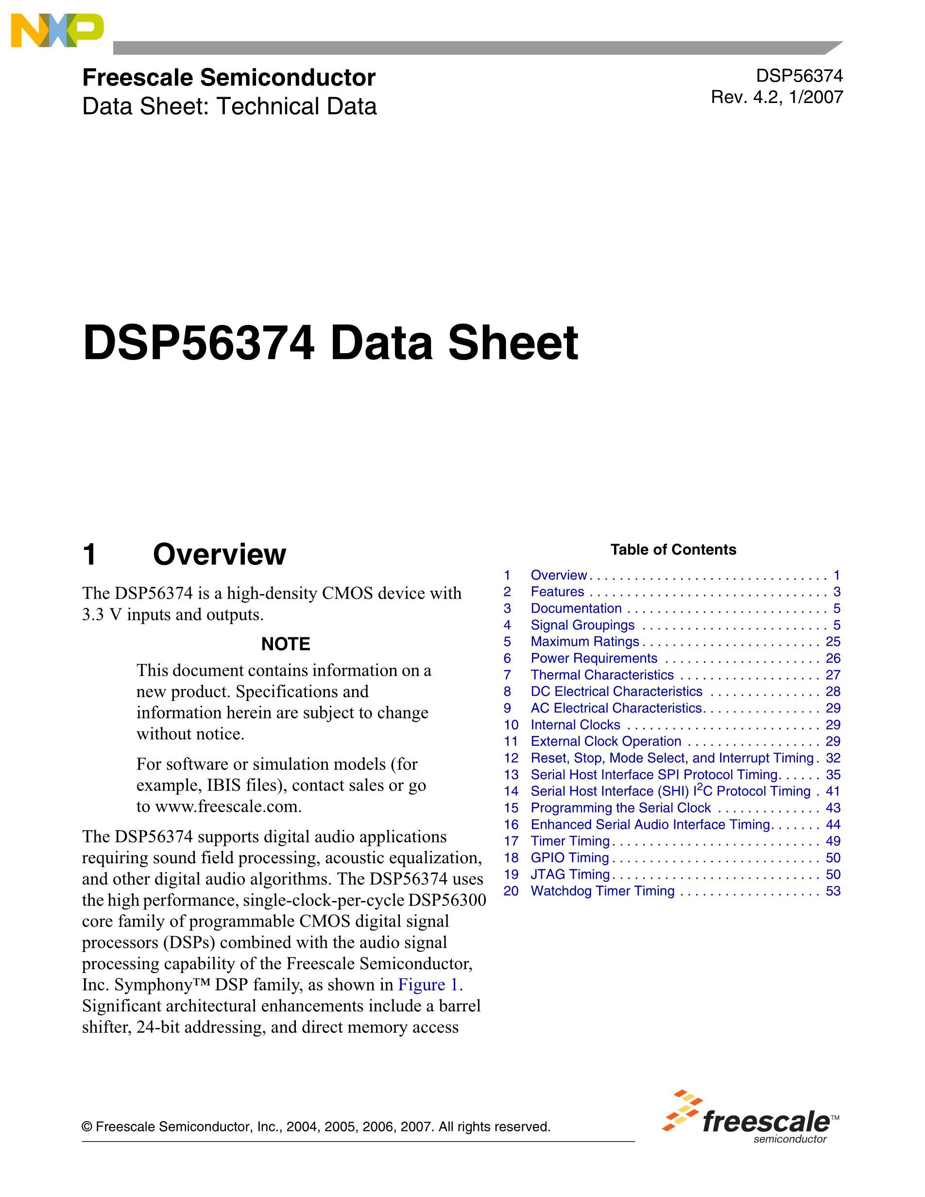 DSPB56725AF's pdf picture 1