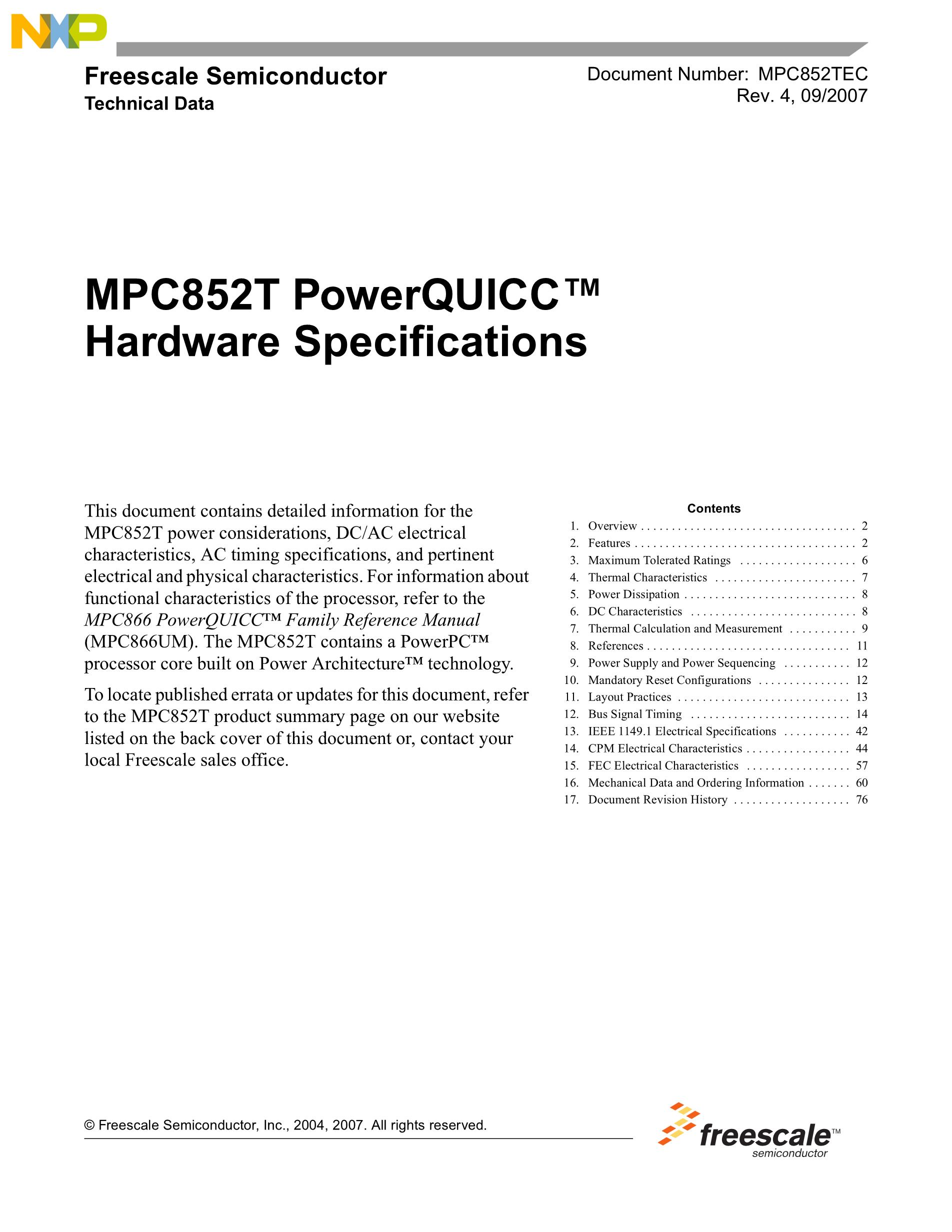 MPC8360CVVAGDGA's pdf picture 1