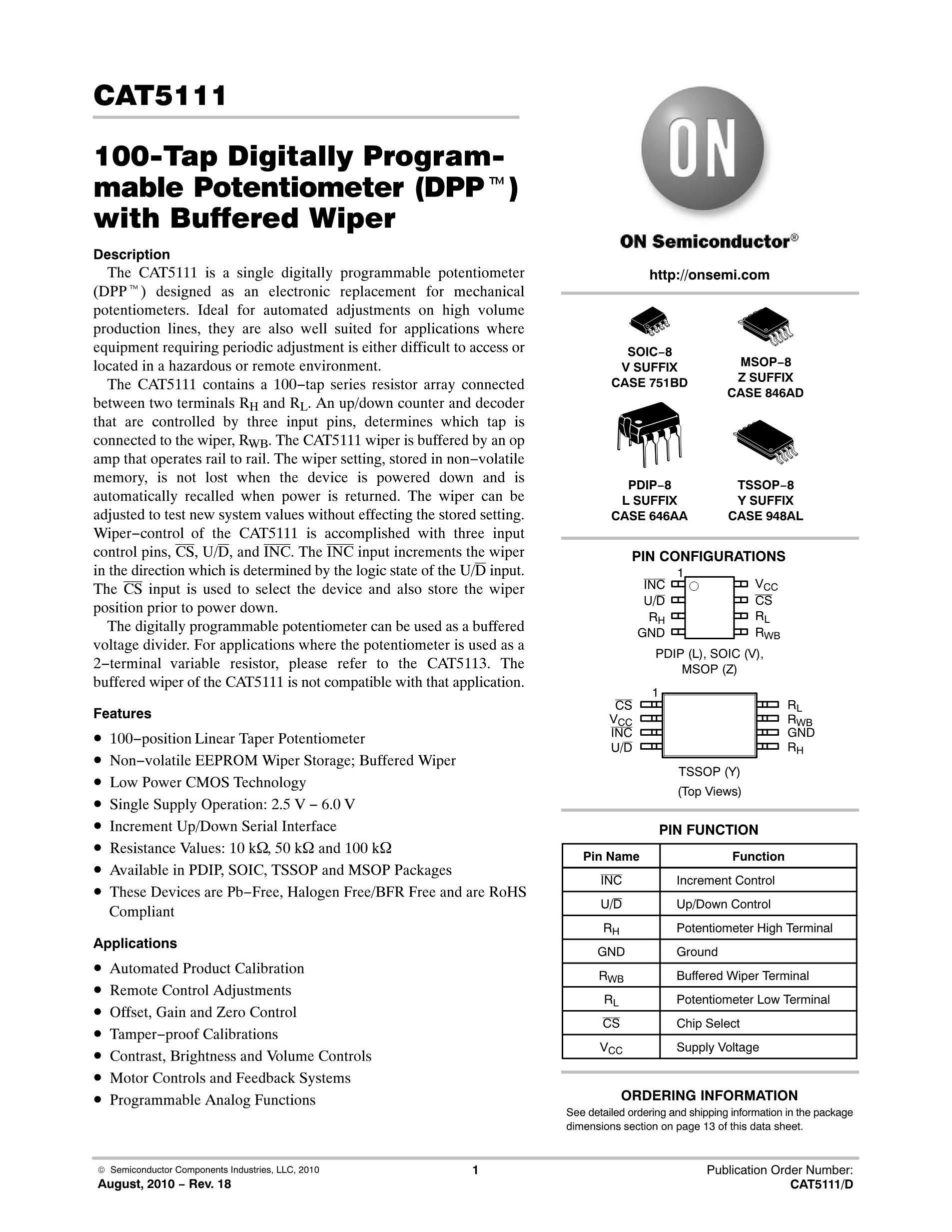 CAT5113YI-01-T3's pdf picture 1