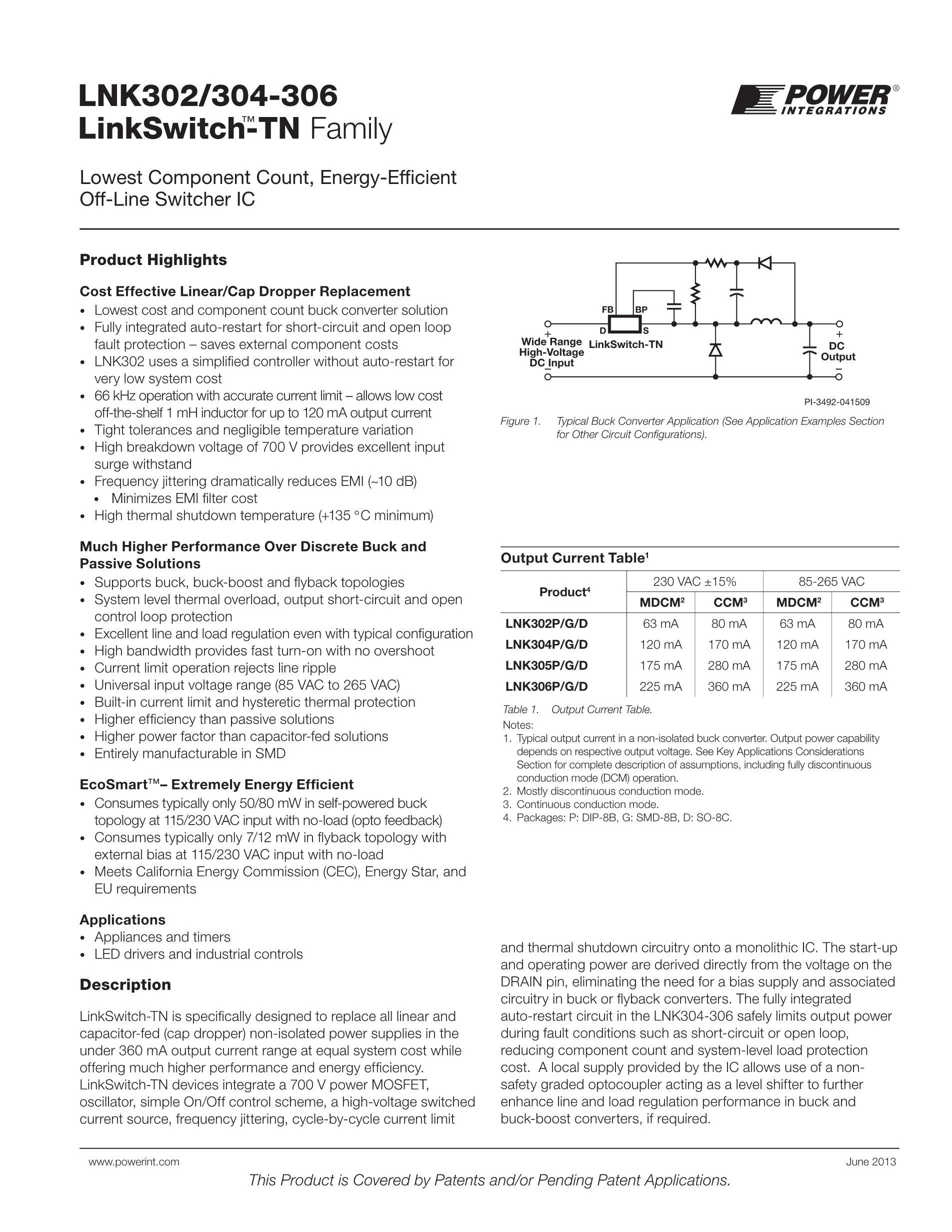 LNK304DG's pdf picture 1