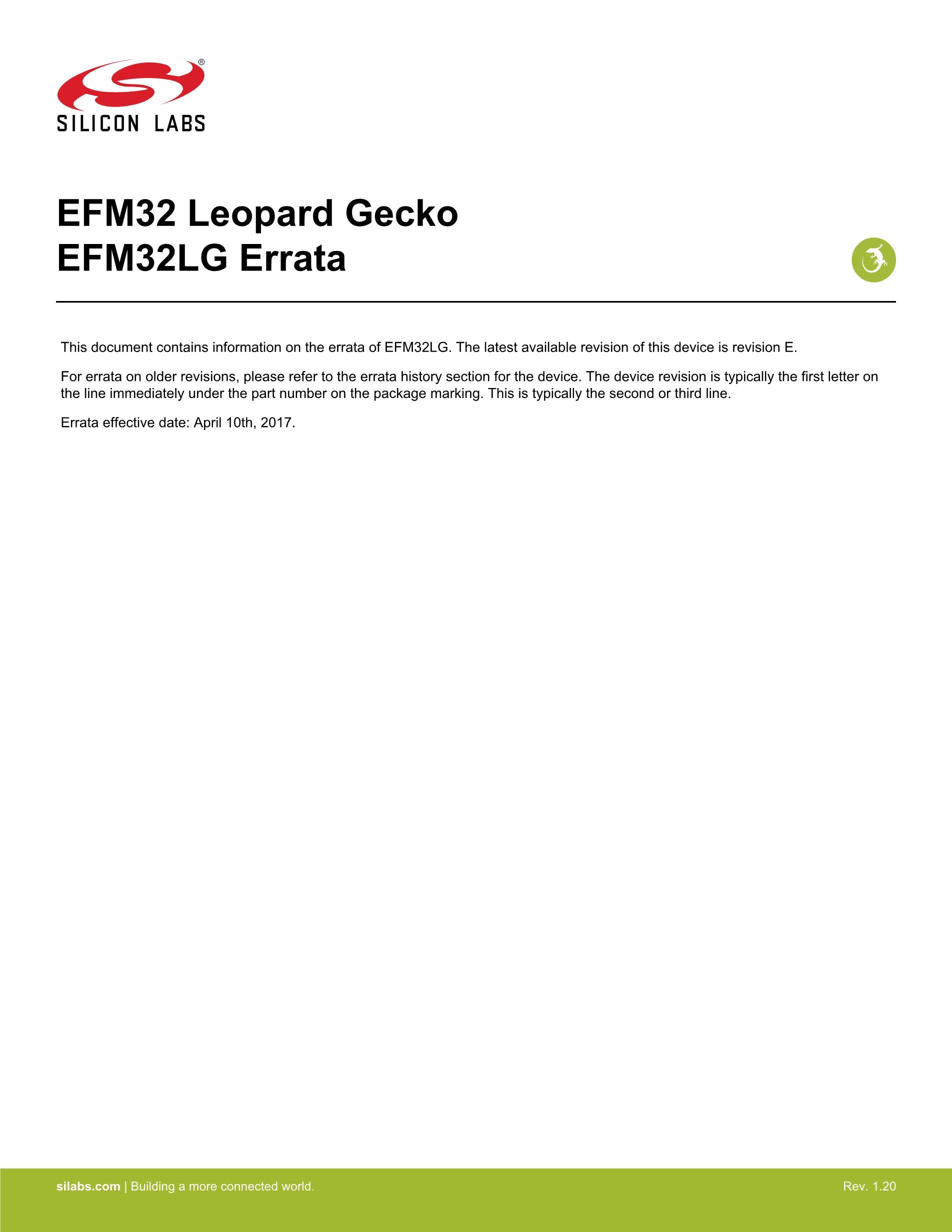 EFM32LG380F256-QFP100T's pdf picture 1