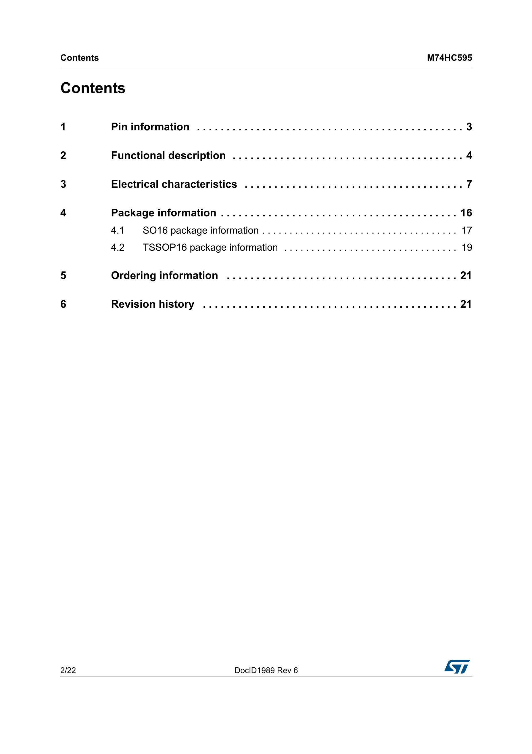 M74HC595TTR's pdf picture 2