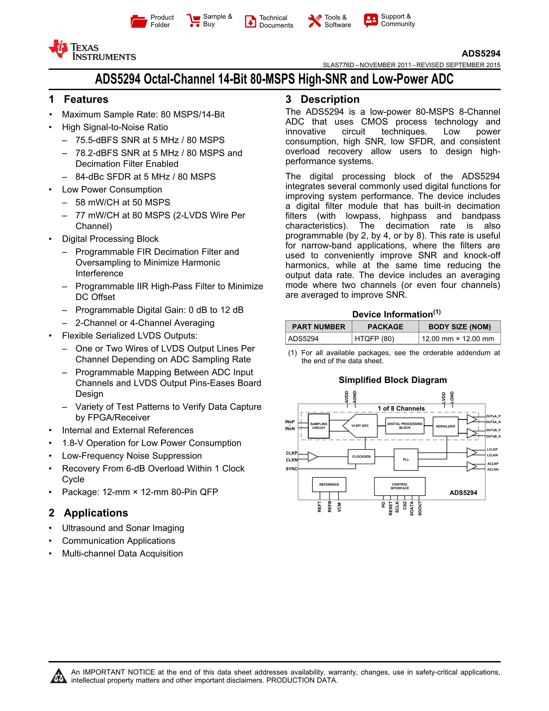 ADS5103IPFBRG4's pdf picture 1