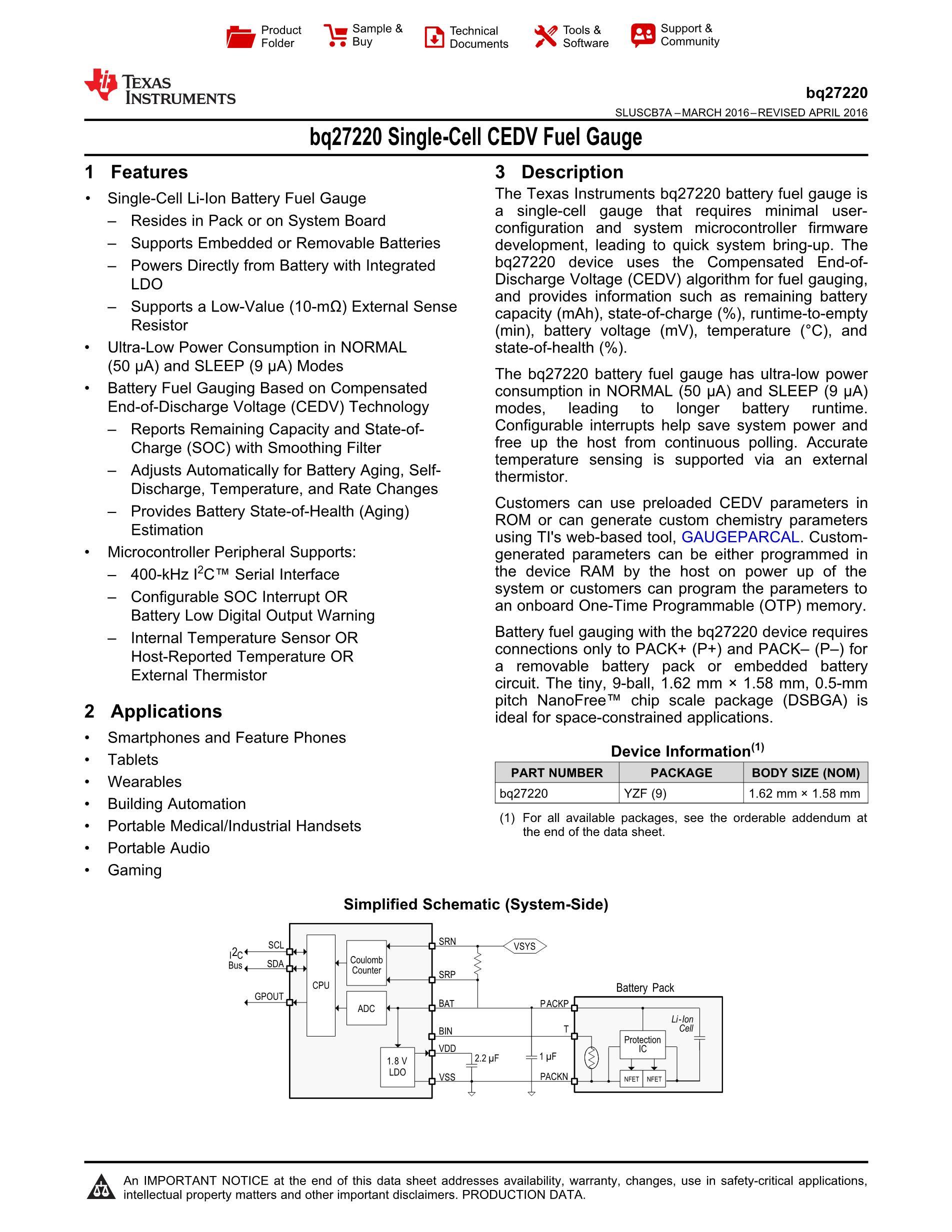 BQ27426YZFR's pdf picture 1