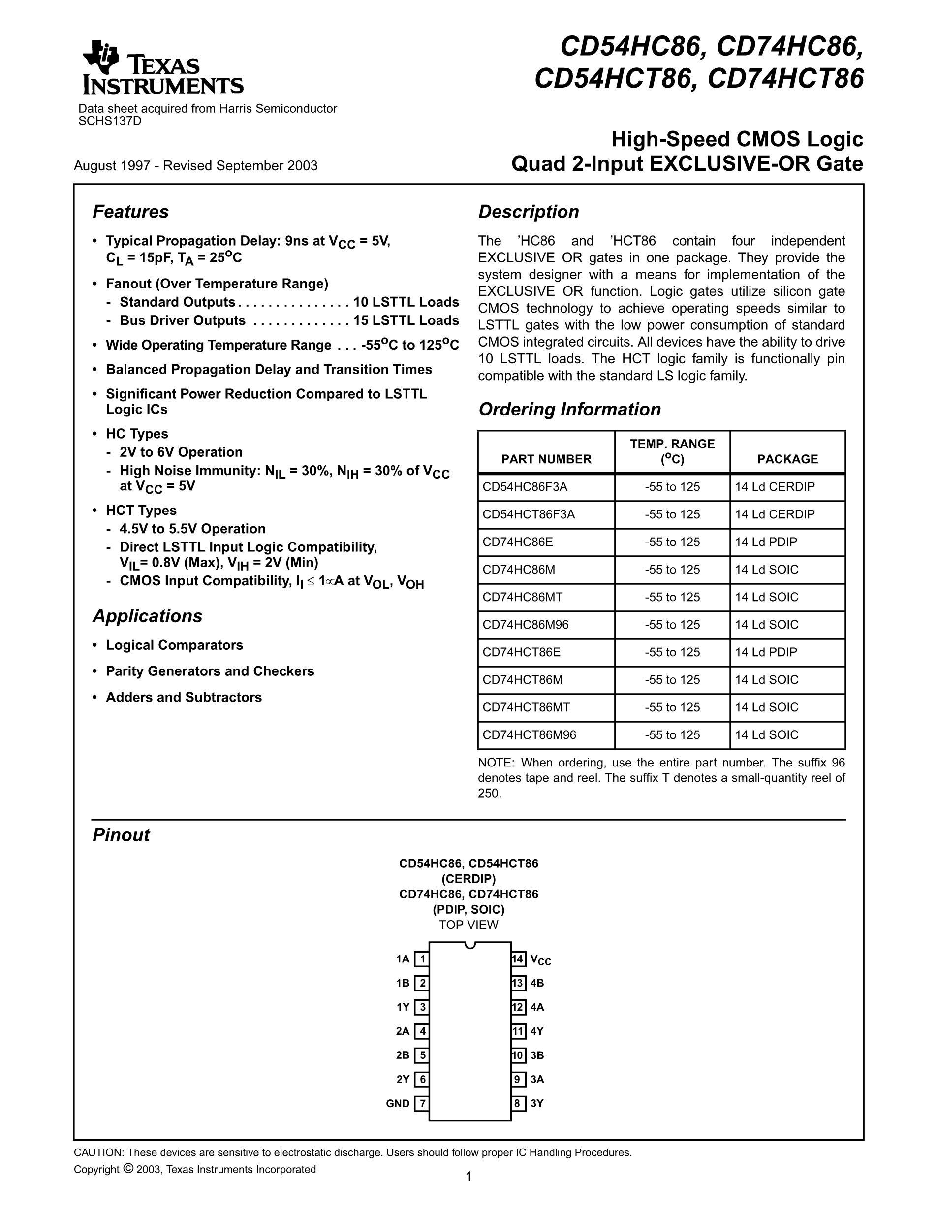 CD74HC86M96E4's pdf picture 1