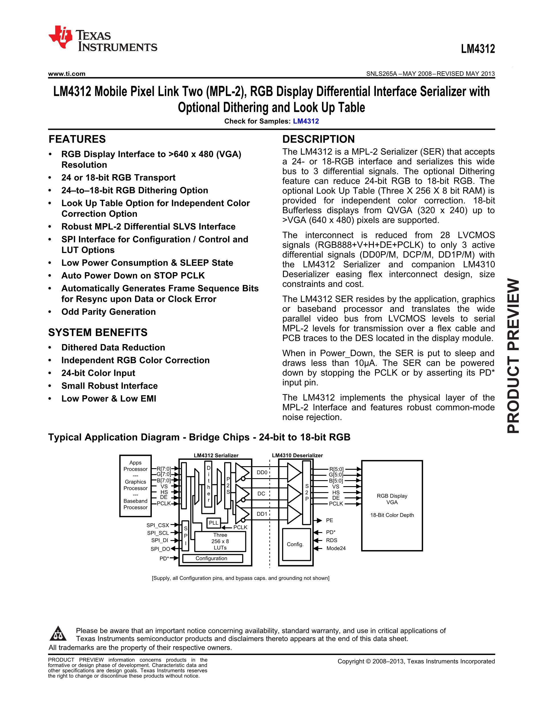 LM4312SN/NOPB's pdf picture 1
