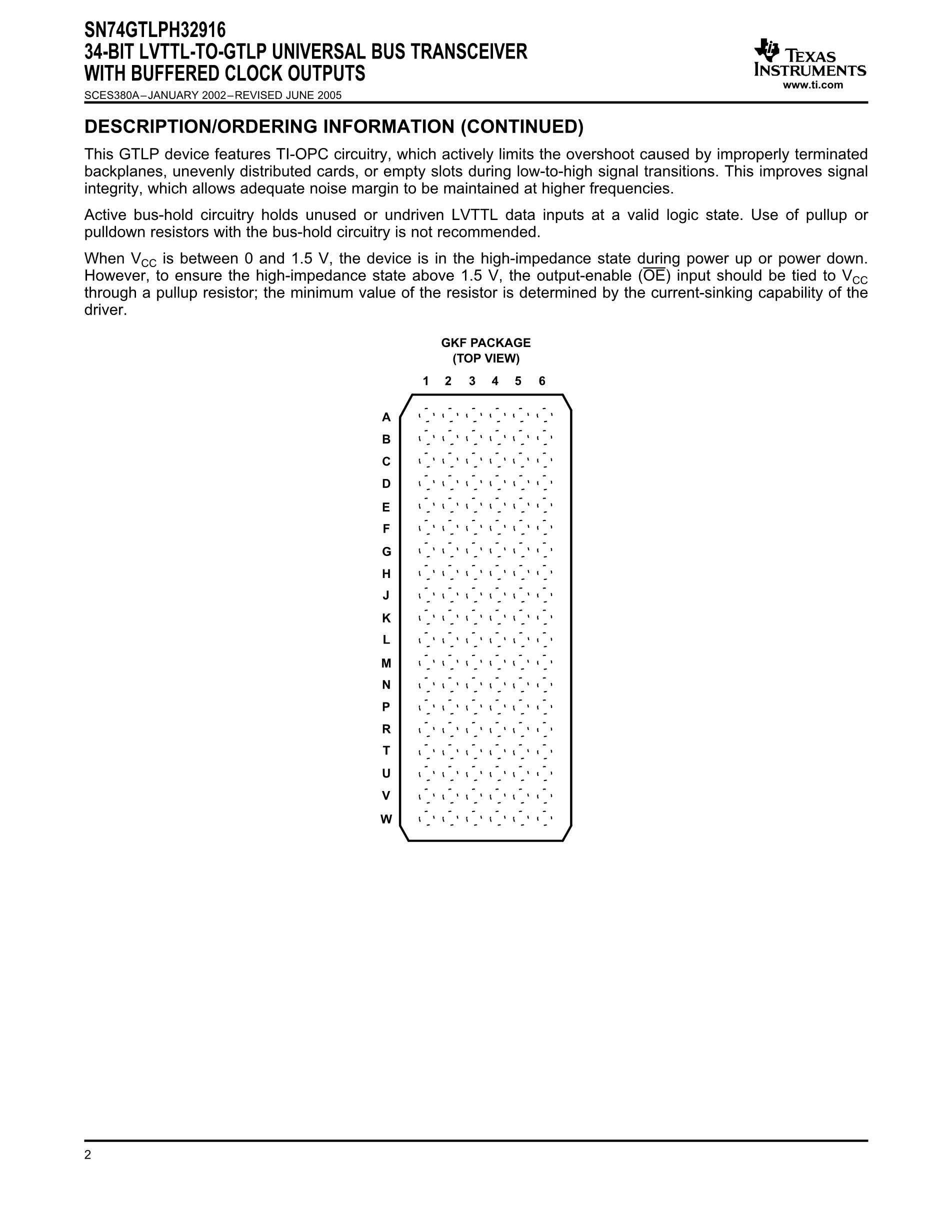 SN74GTLPH32916KR's pdf picture 2