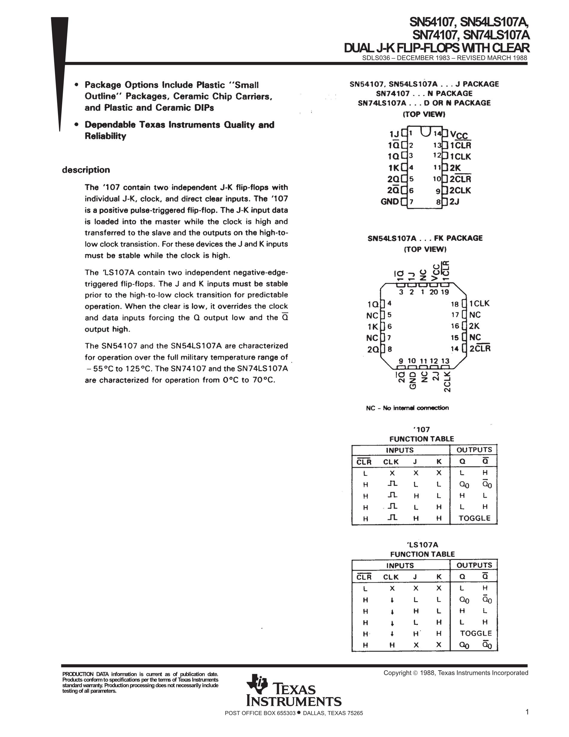 SN74LS107ADR's pdf picture 1