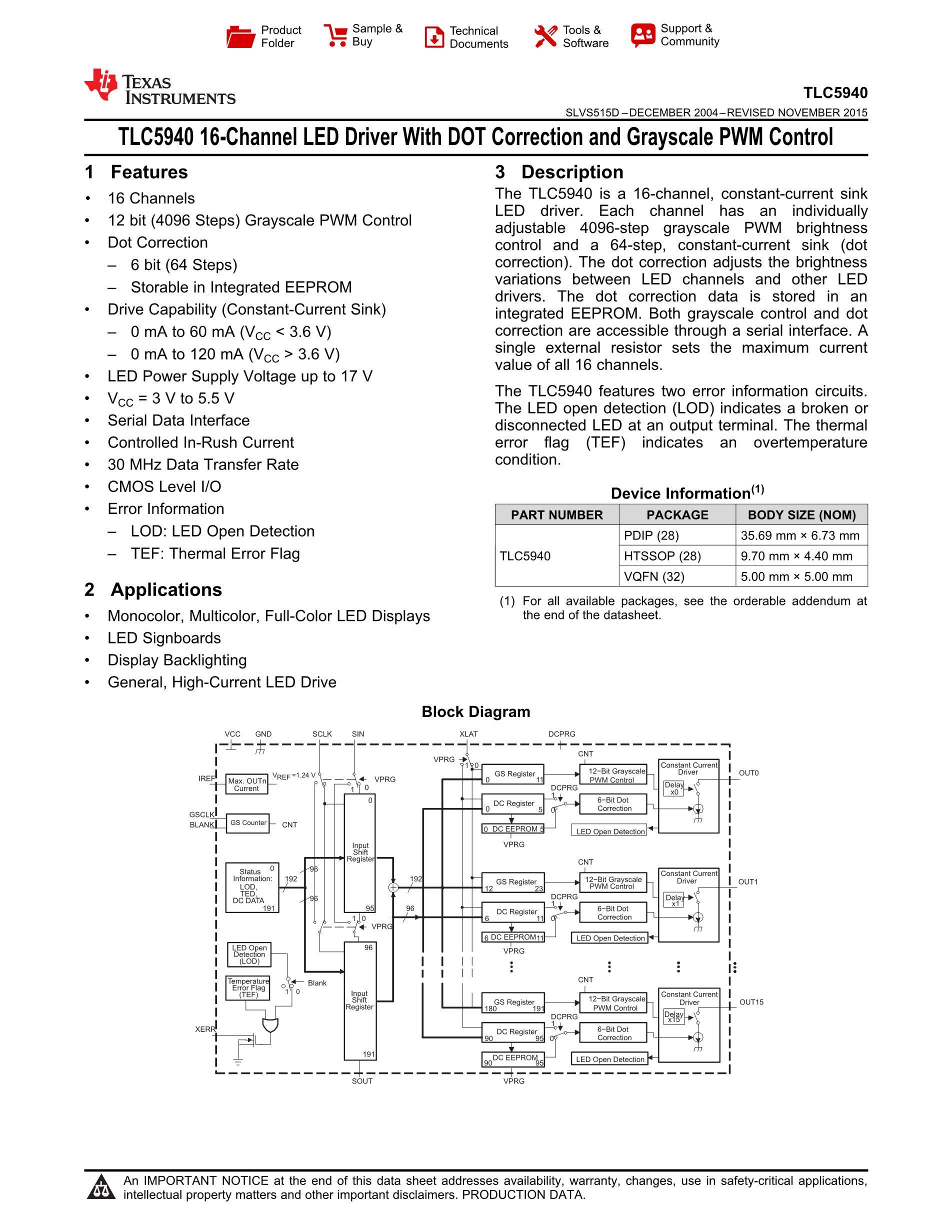TLC5940NT's pdf picture 1