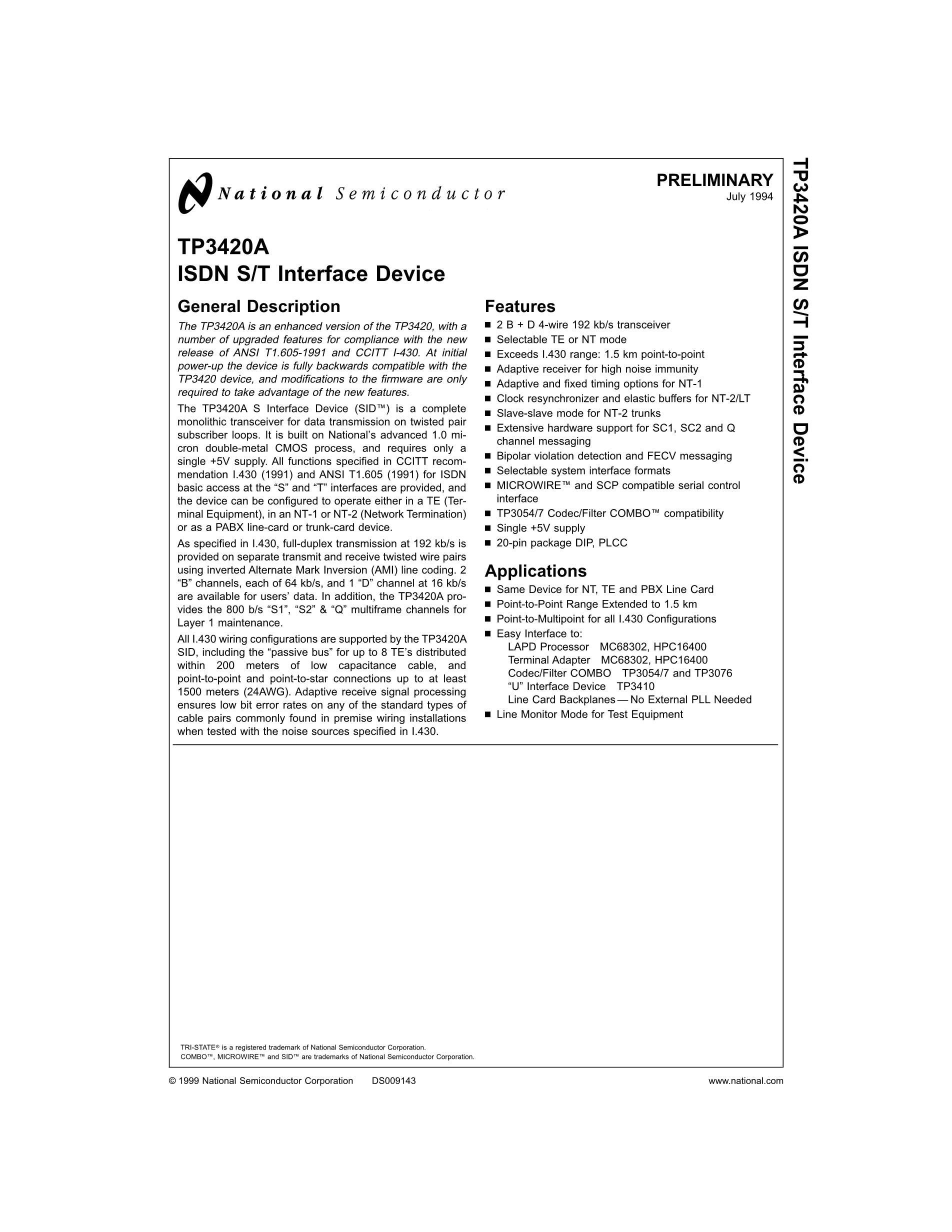 TP3406V/NOPB's pdf picture 2