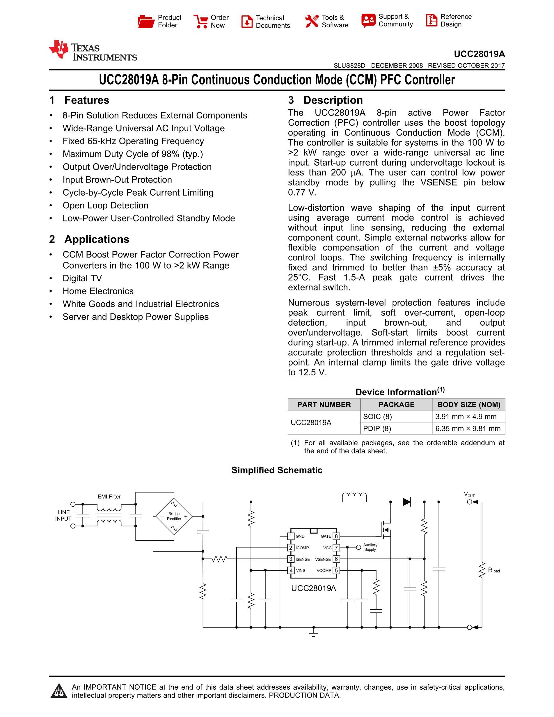 UCC28019AP's pdf picture 1