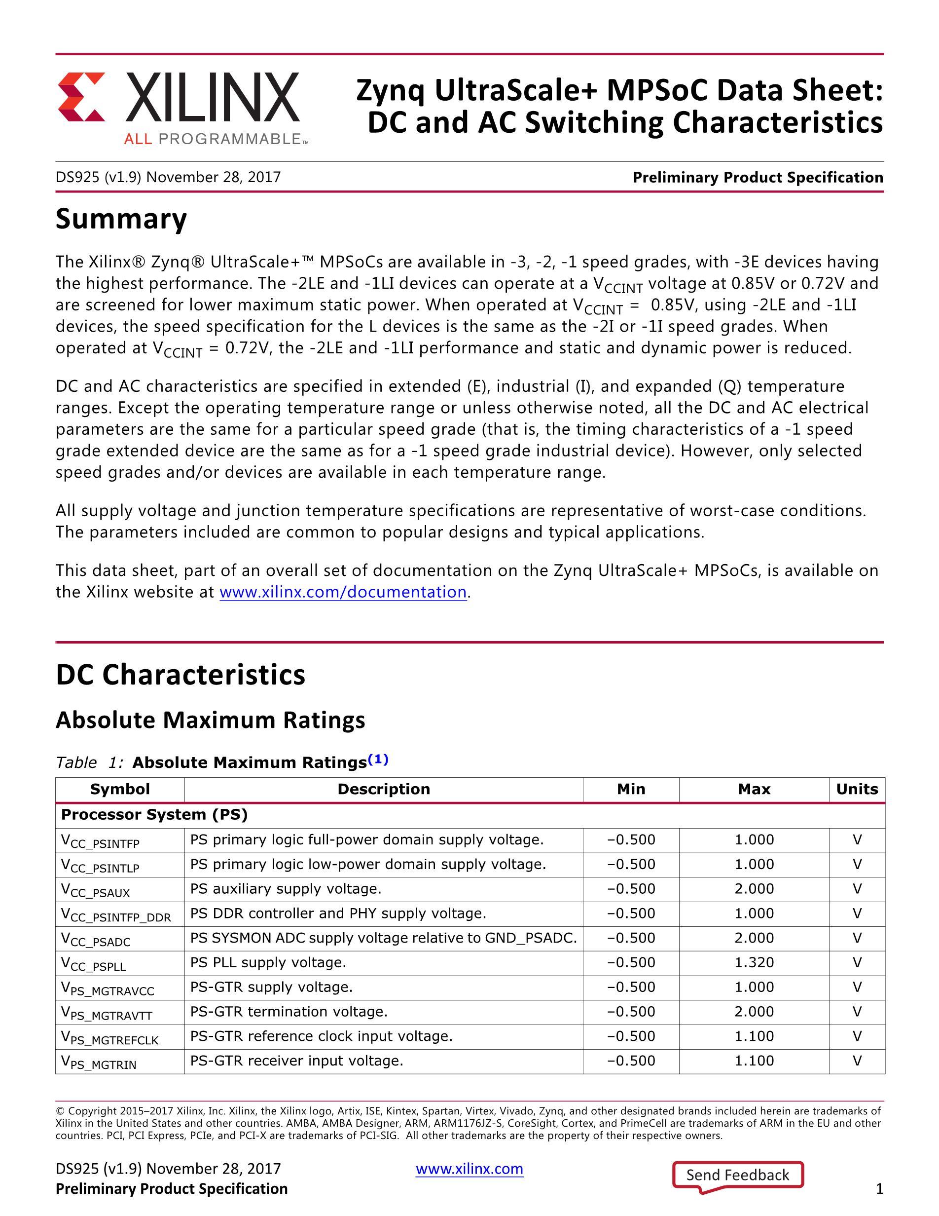 XCZU7CG-1FFVF1517E's pdf picture 1