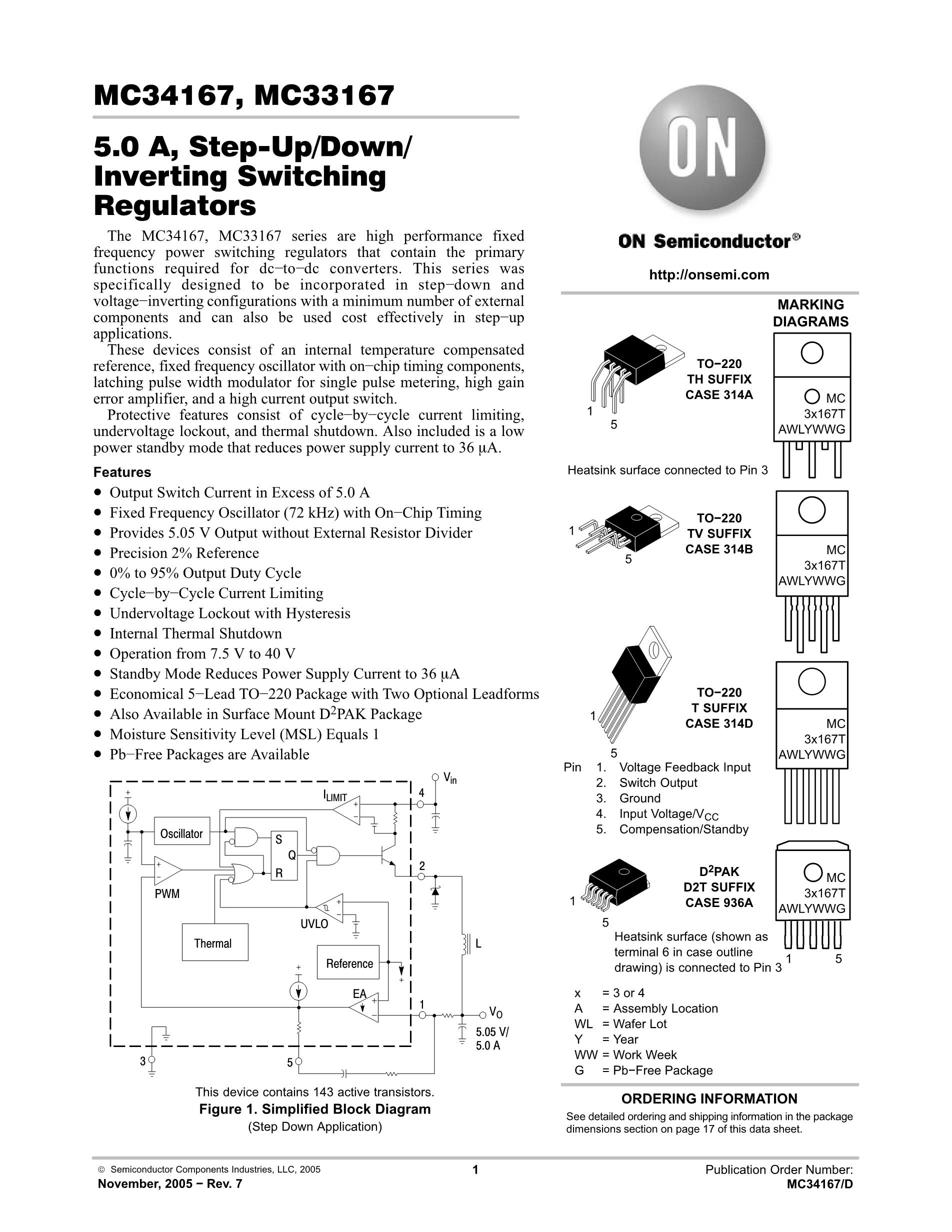 MC34167D2TR4G's pdf picture 1