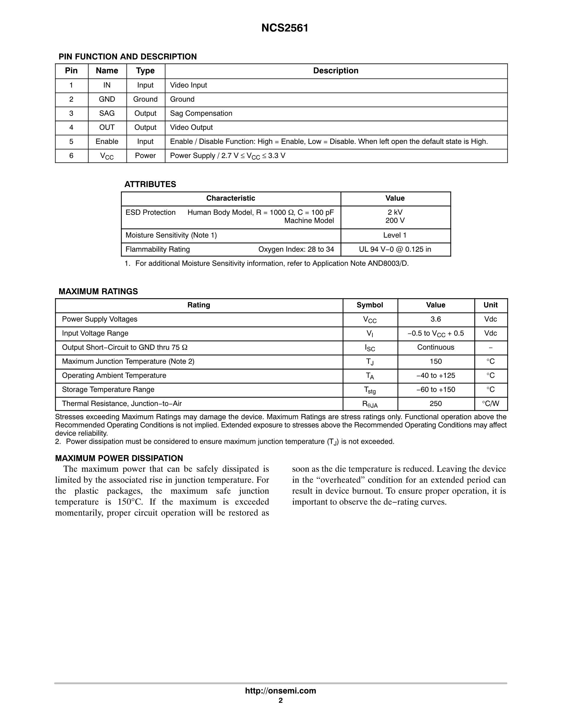 NCS2561SQT1G's pdf picture 2