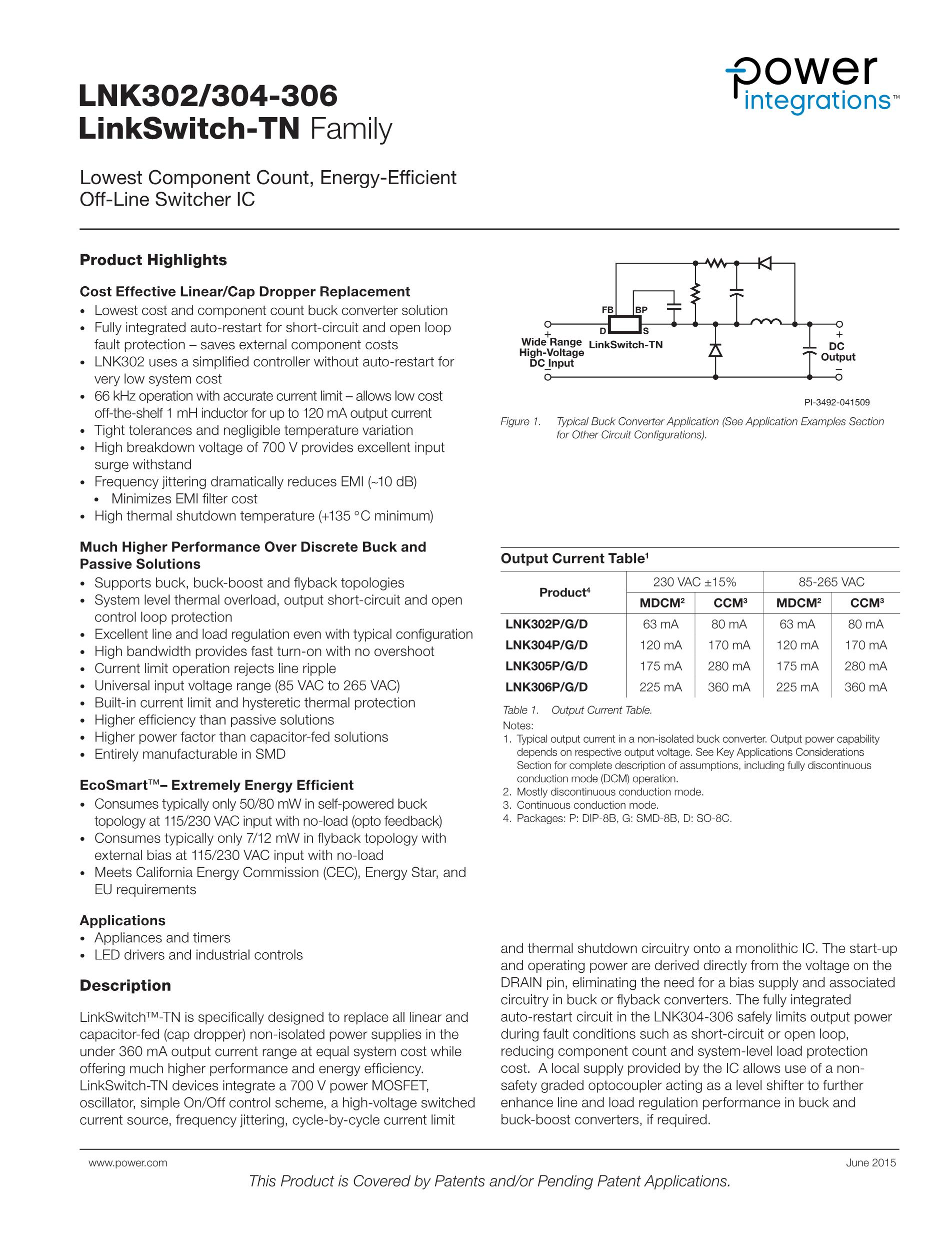 LNK306GN's pdf picture 1