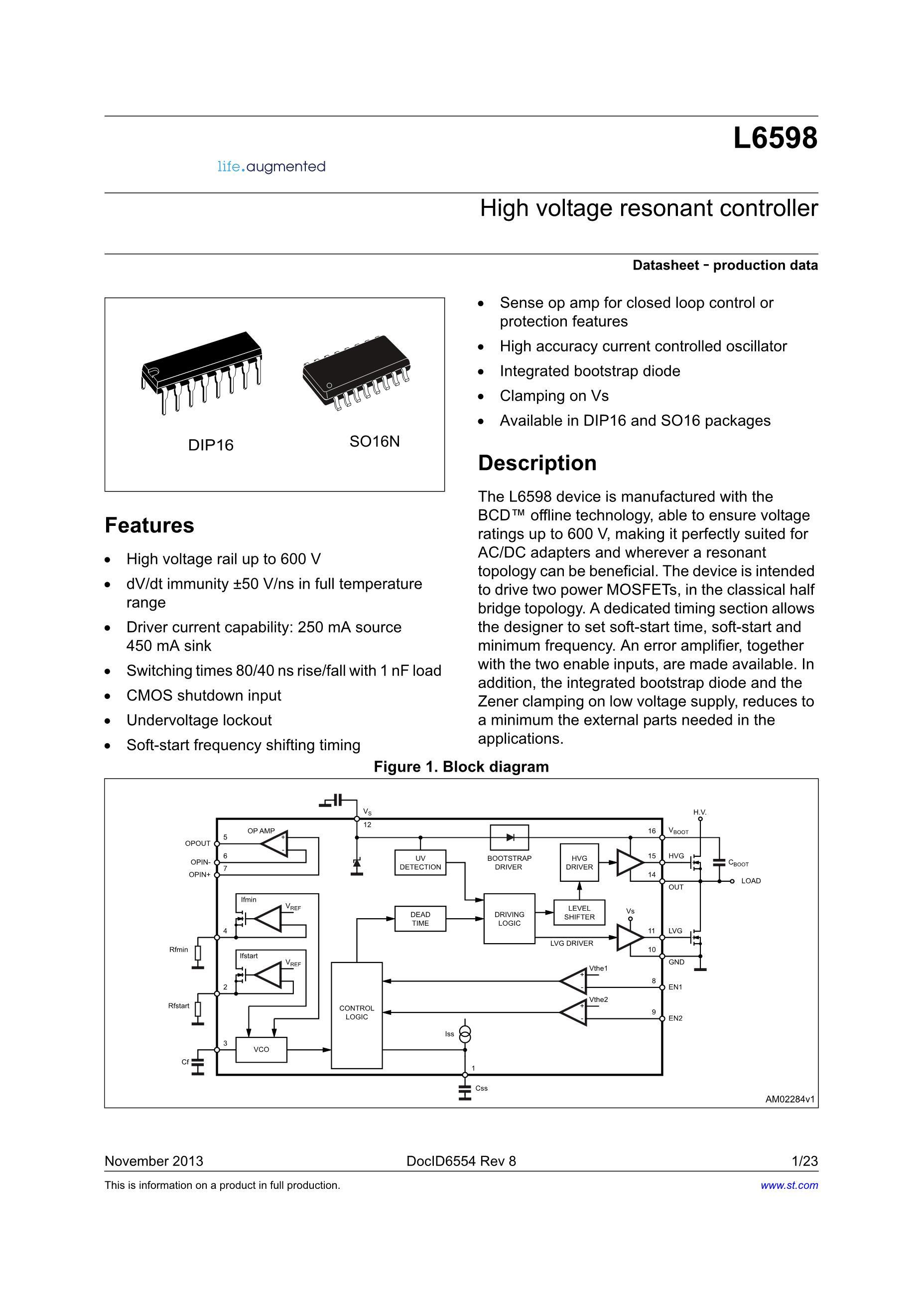 L6599DTR's pdf picture 1