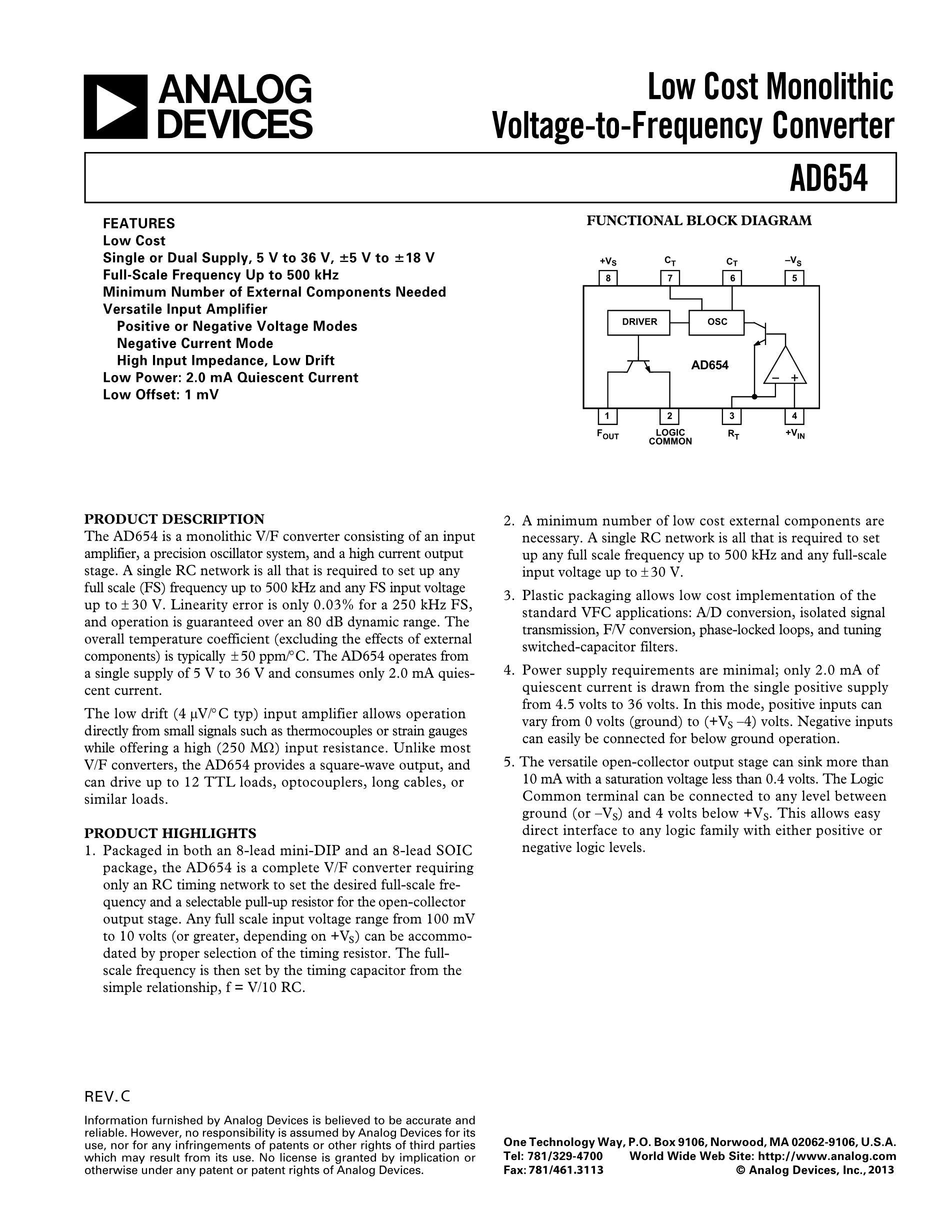 AD654JR's pdf picture 1