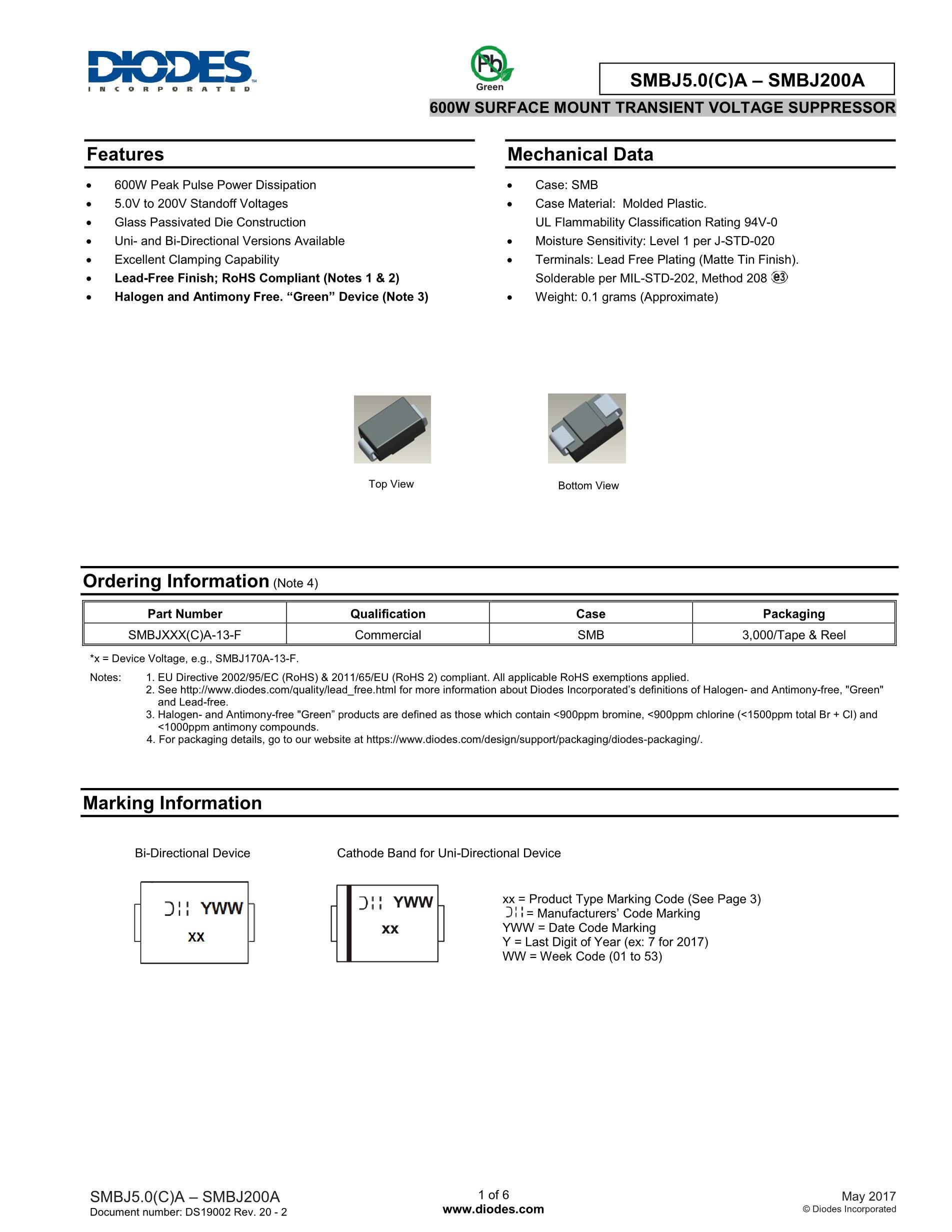 SMBJ13CA/CCDGG's pdf picture 1