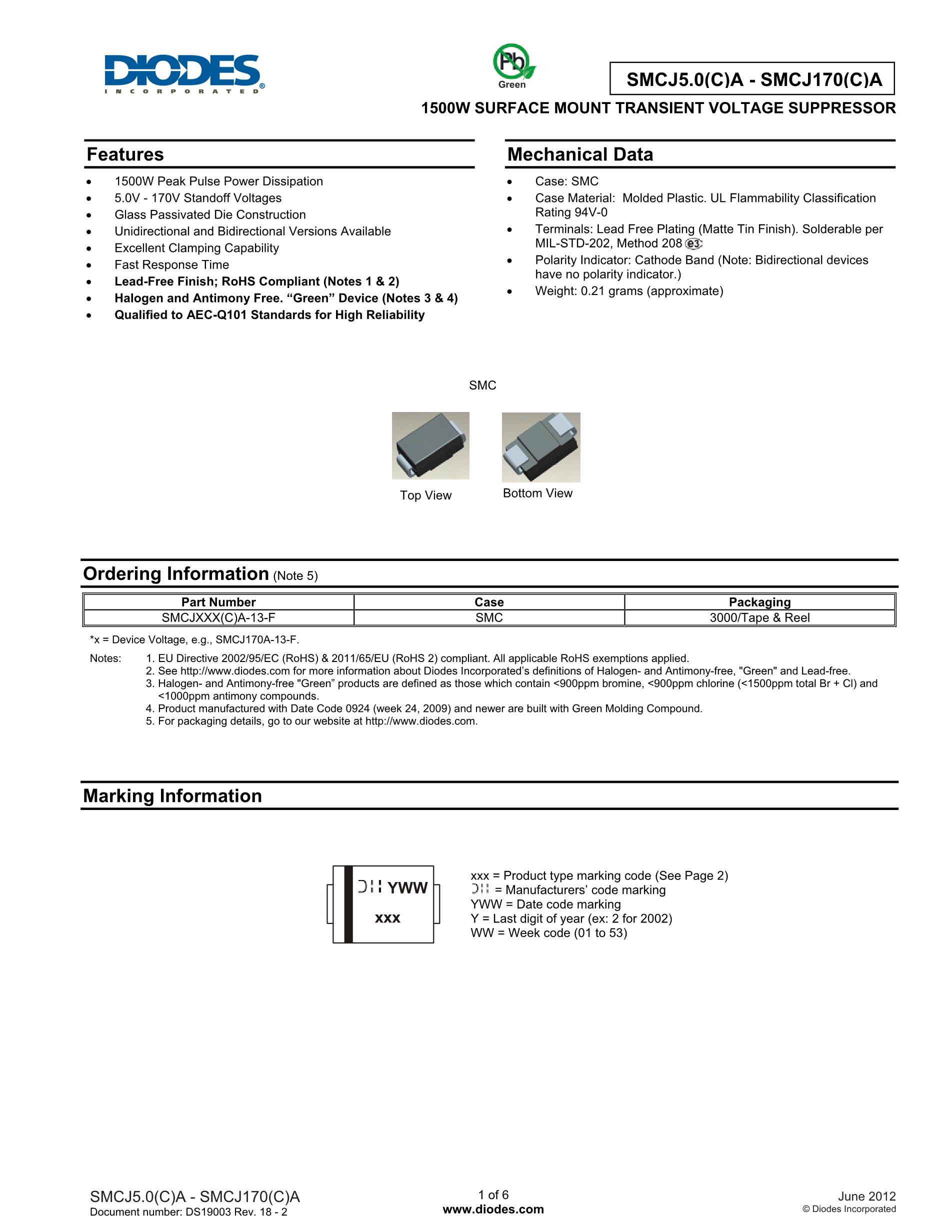 SMCJ33CA's pdf picture 1