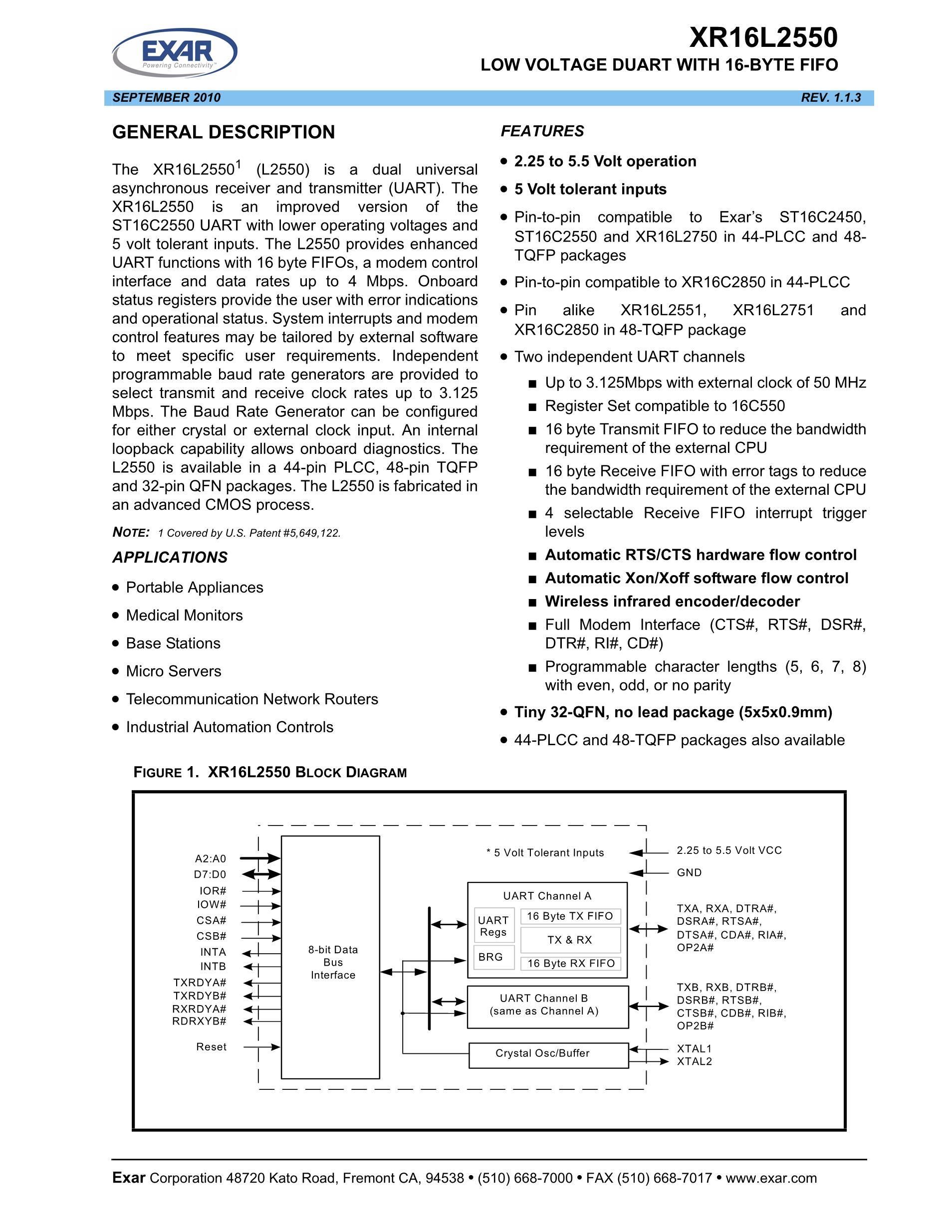 XR16L2550IM-F's pdf picture 1