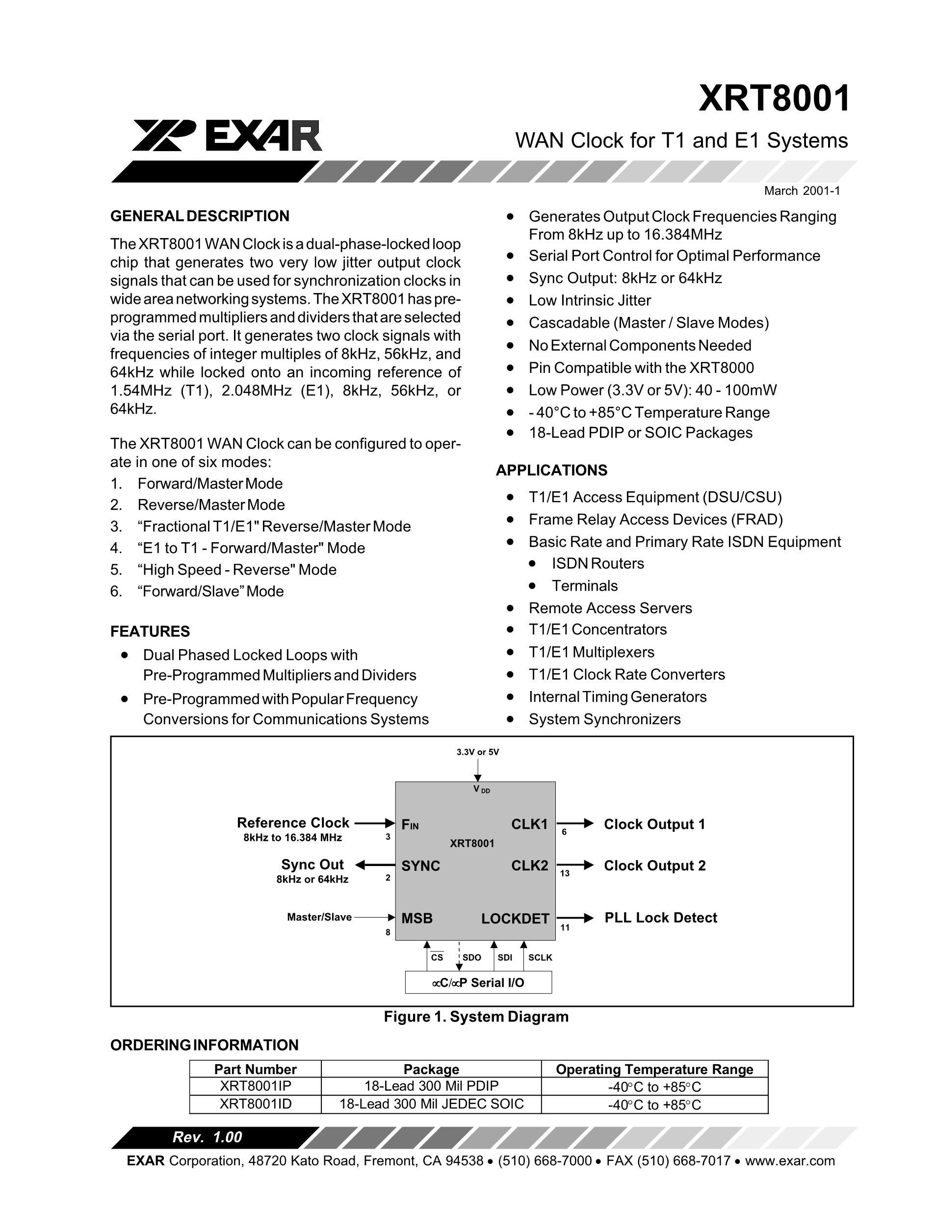 XRT83L30ES's pdf picture 1