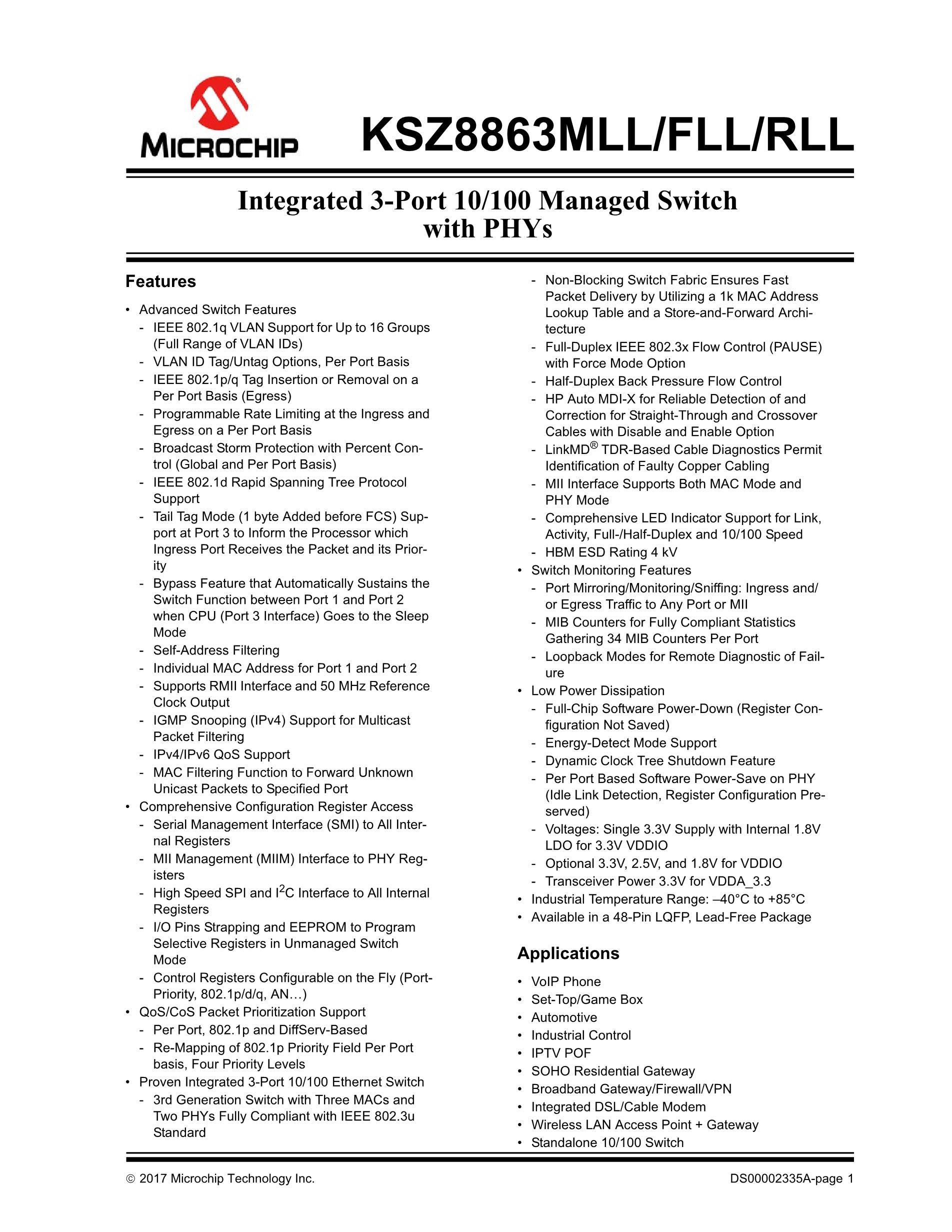 KSZ8695PI's pdf picture 1