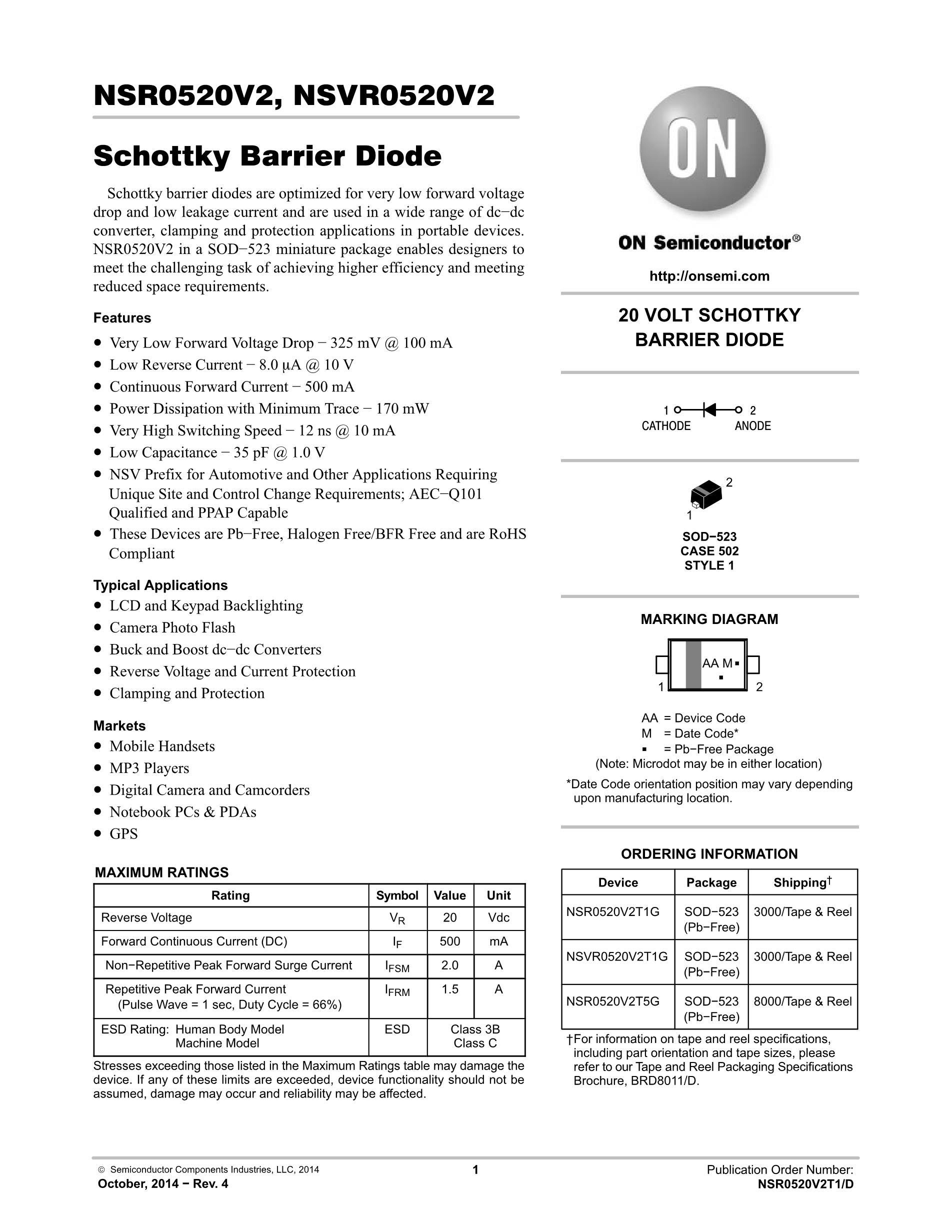 NSR05F40NXT5G's pdf picture 1