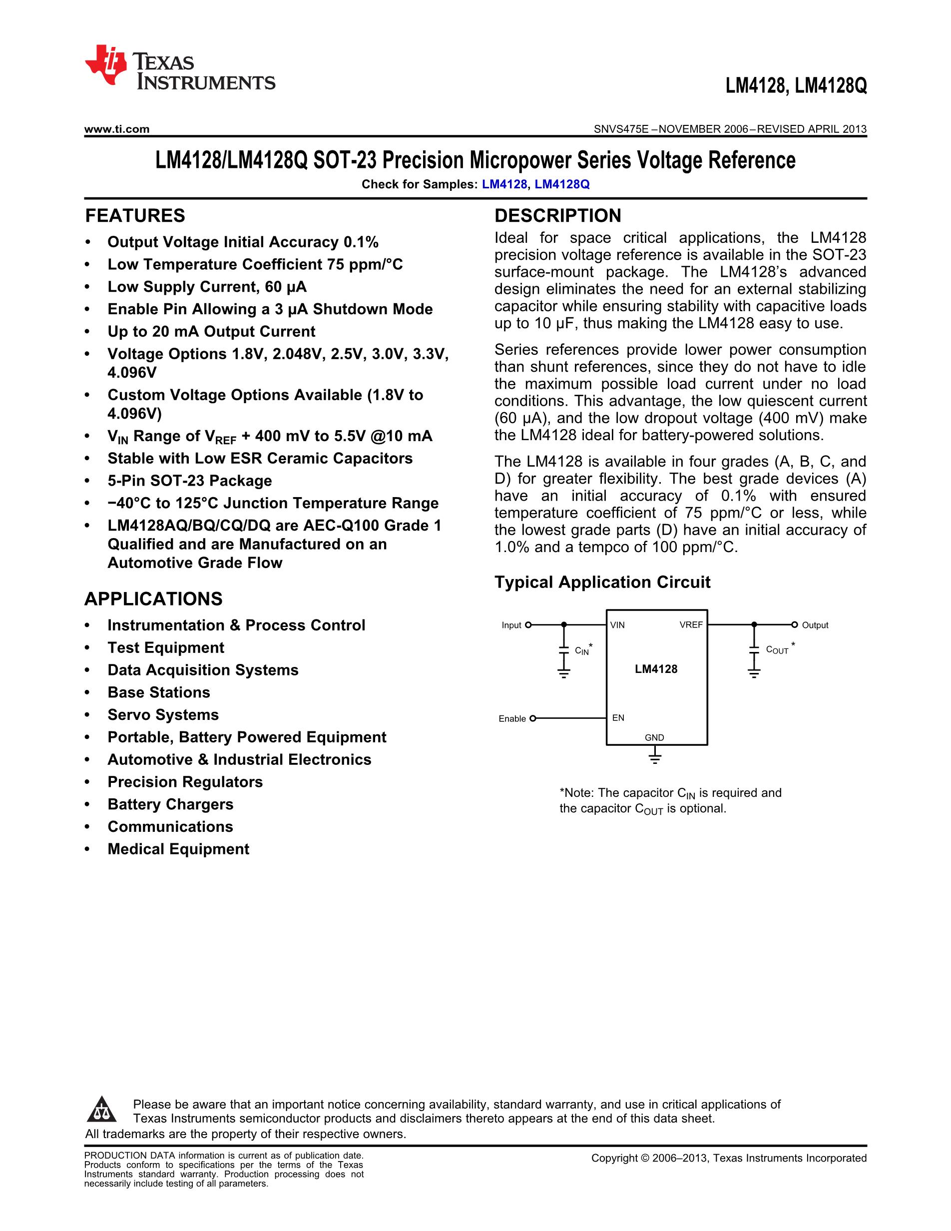 LM4132AMFX-3.3/NOPB's pdf picture 1