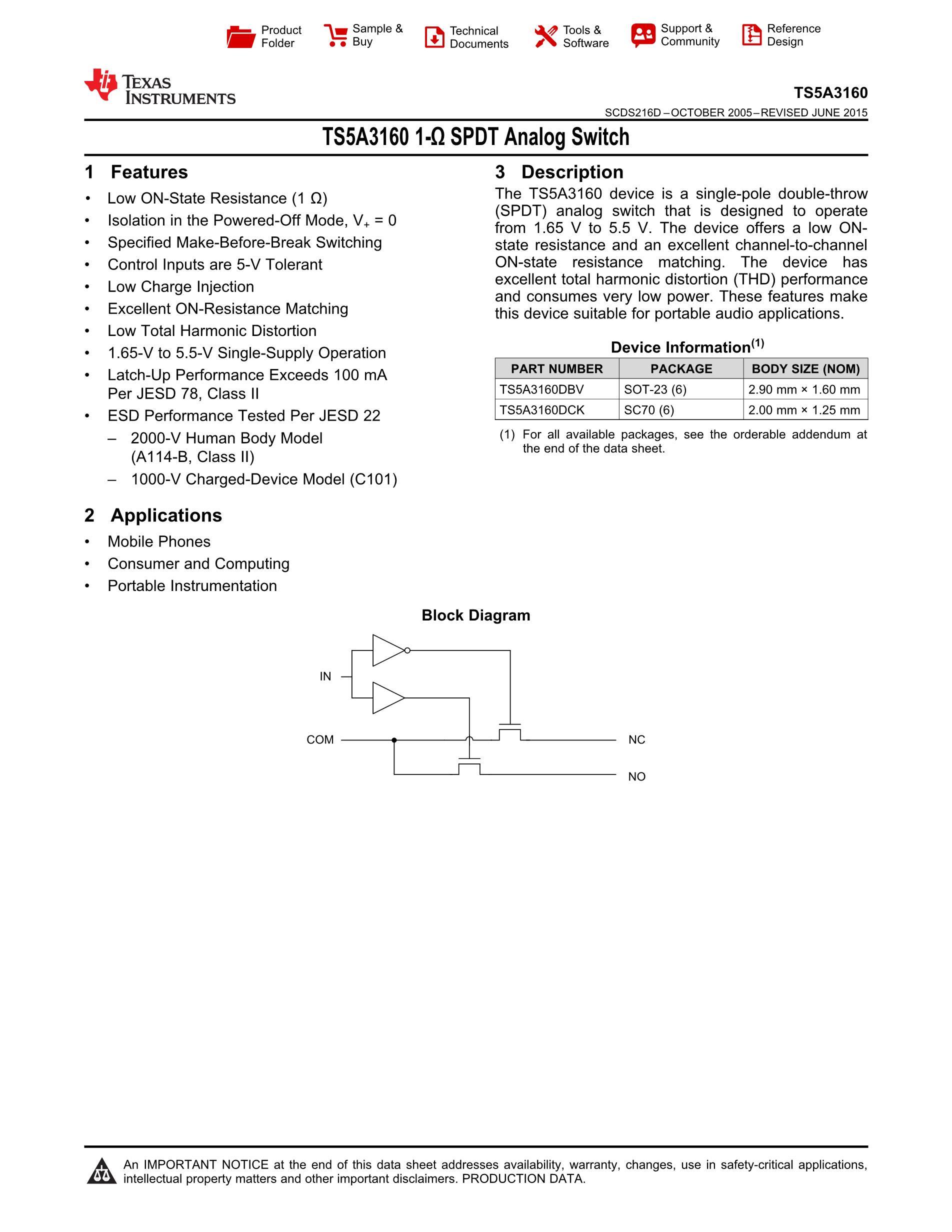 TS5A22362DRCR's pdf picture 1
