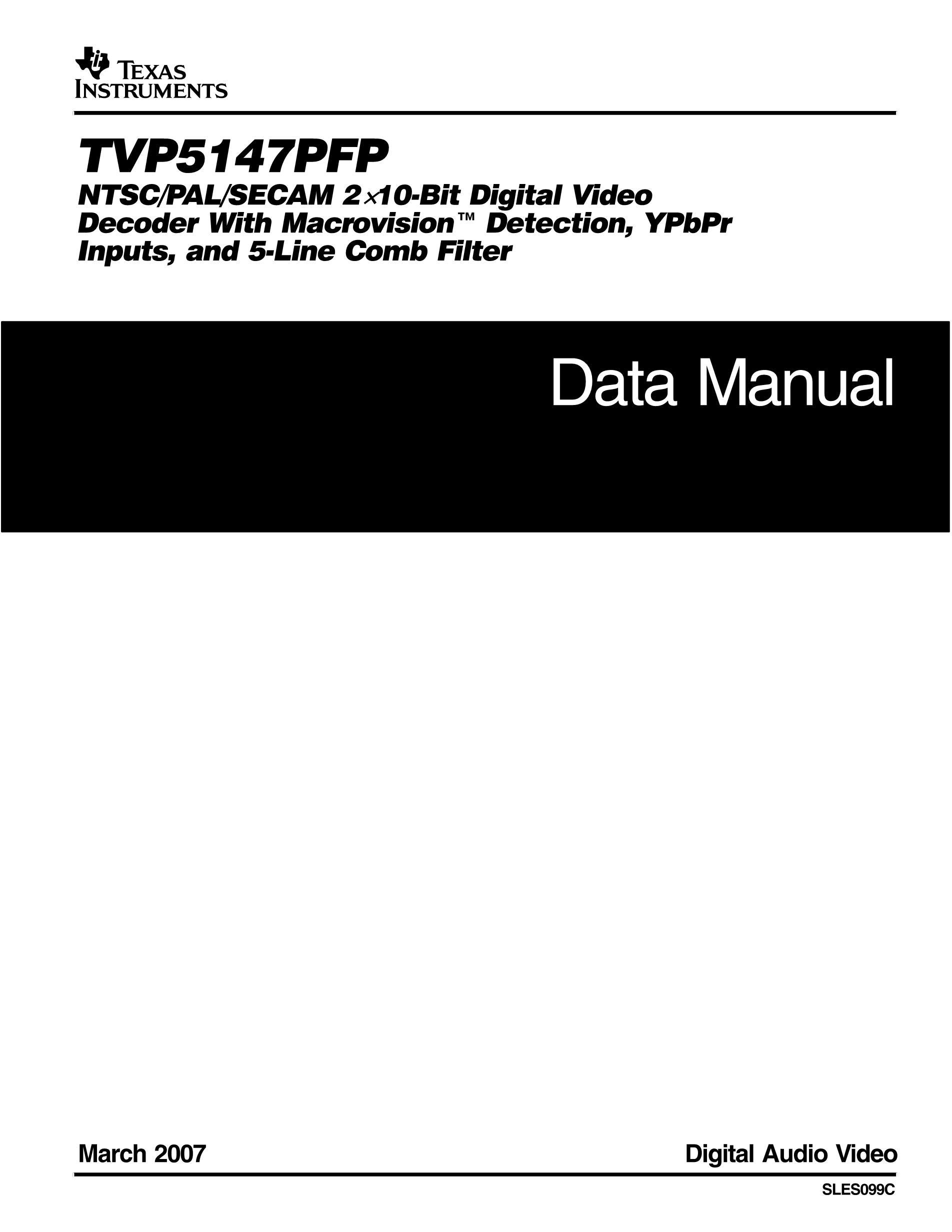 TVP5147PFP's pdf picture 1