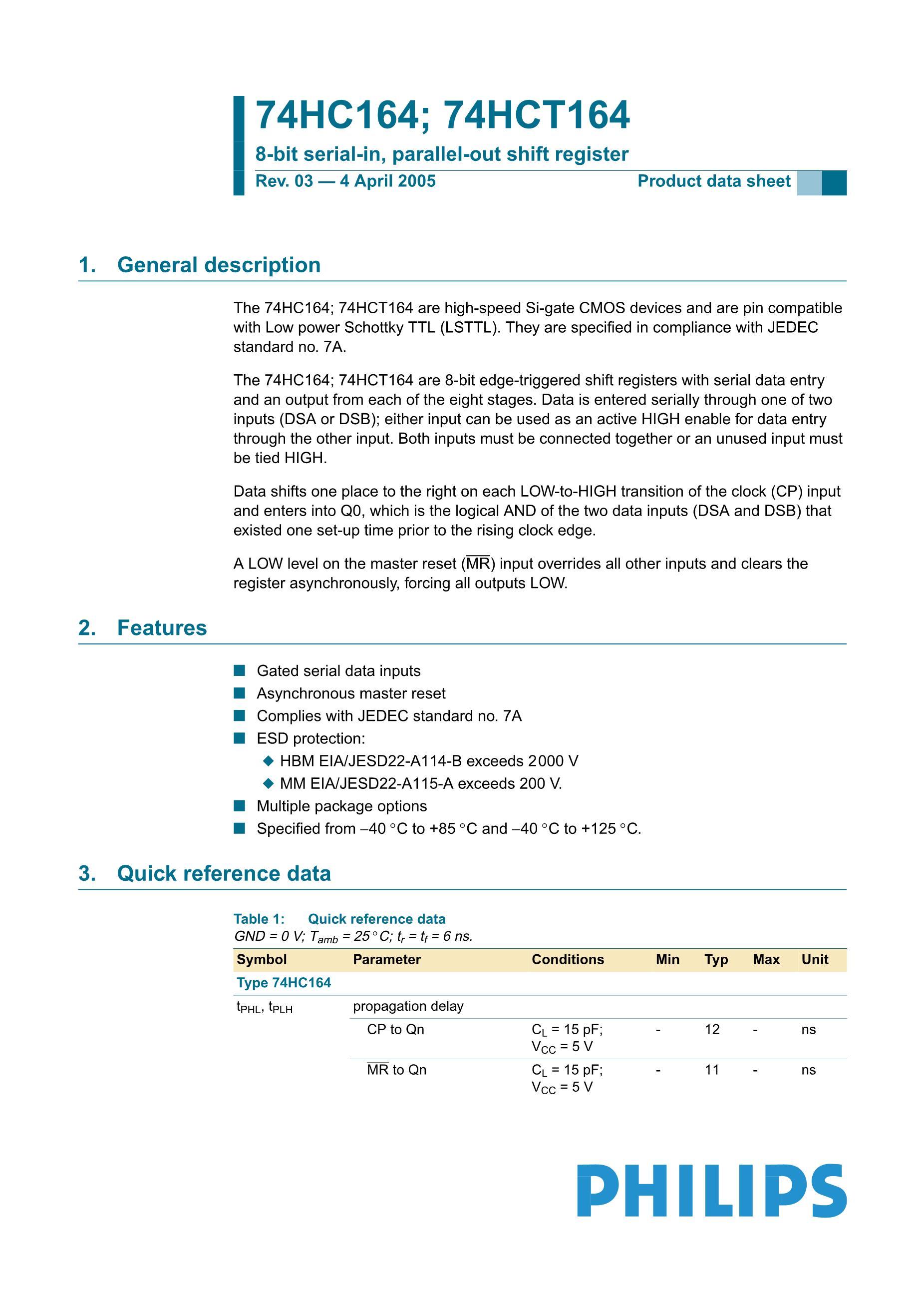 74HC164D's pdf picture 1