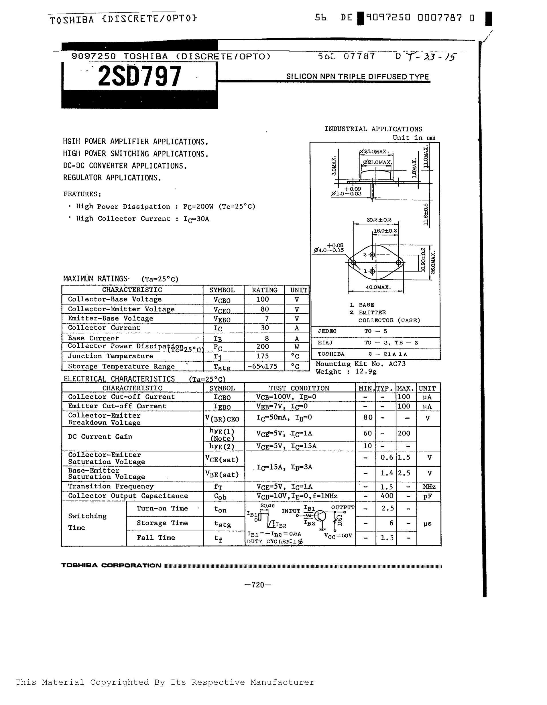 2SD780A/D54's pdf picture 1