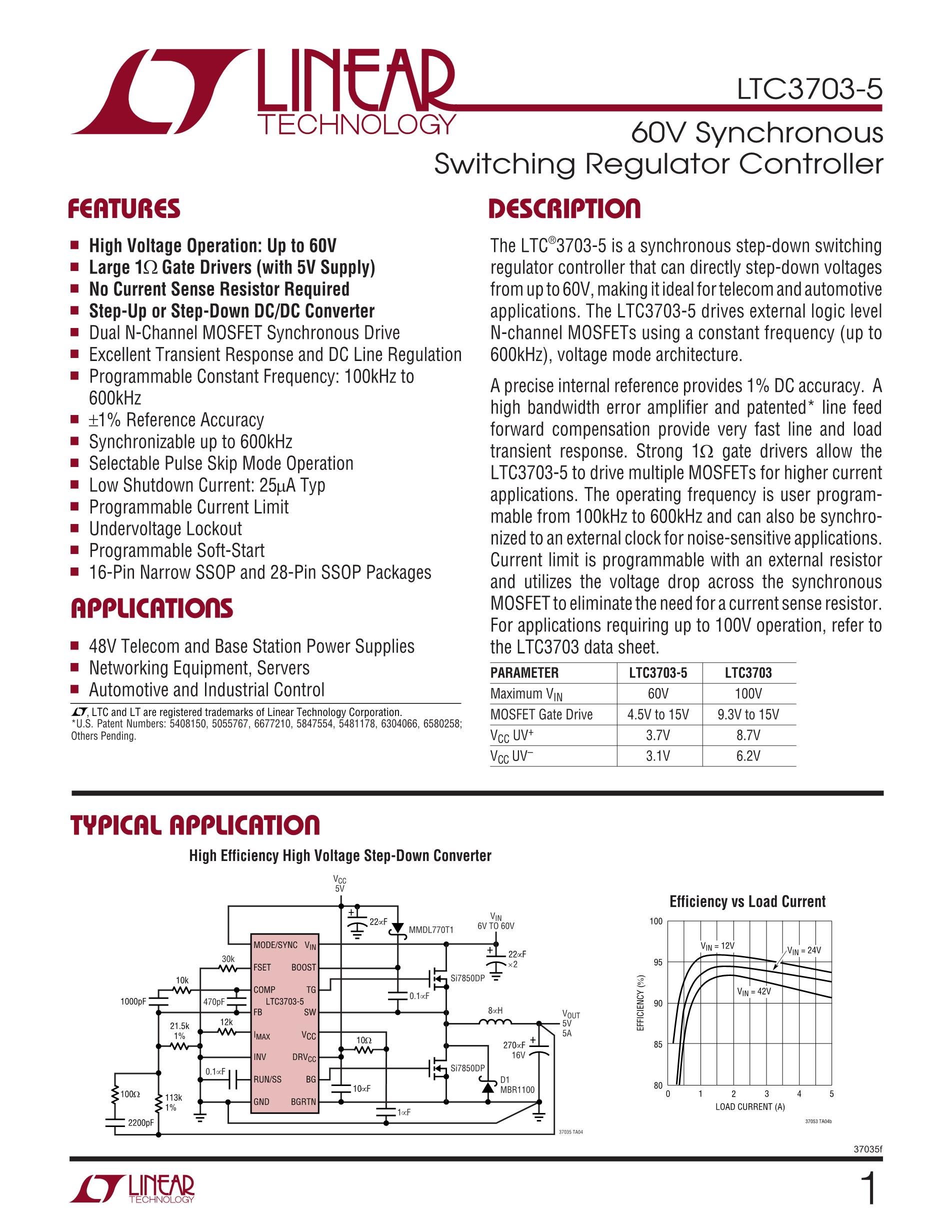 LTC3703EG#TRPBF's pdf picture 1