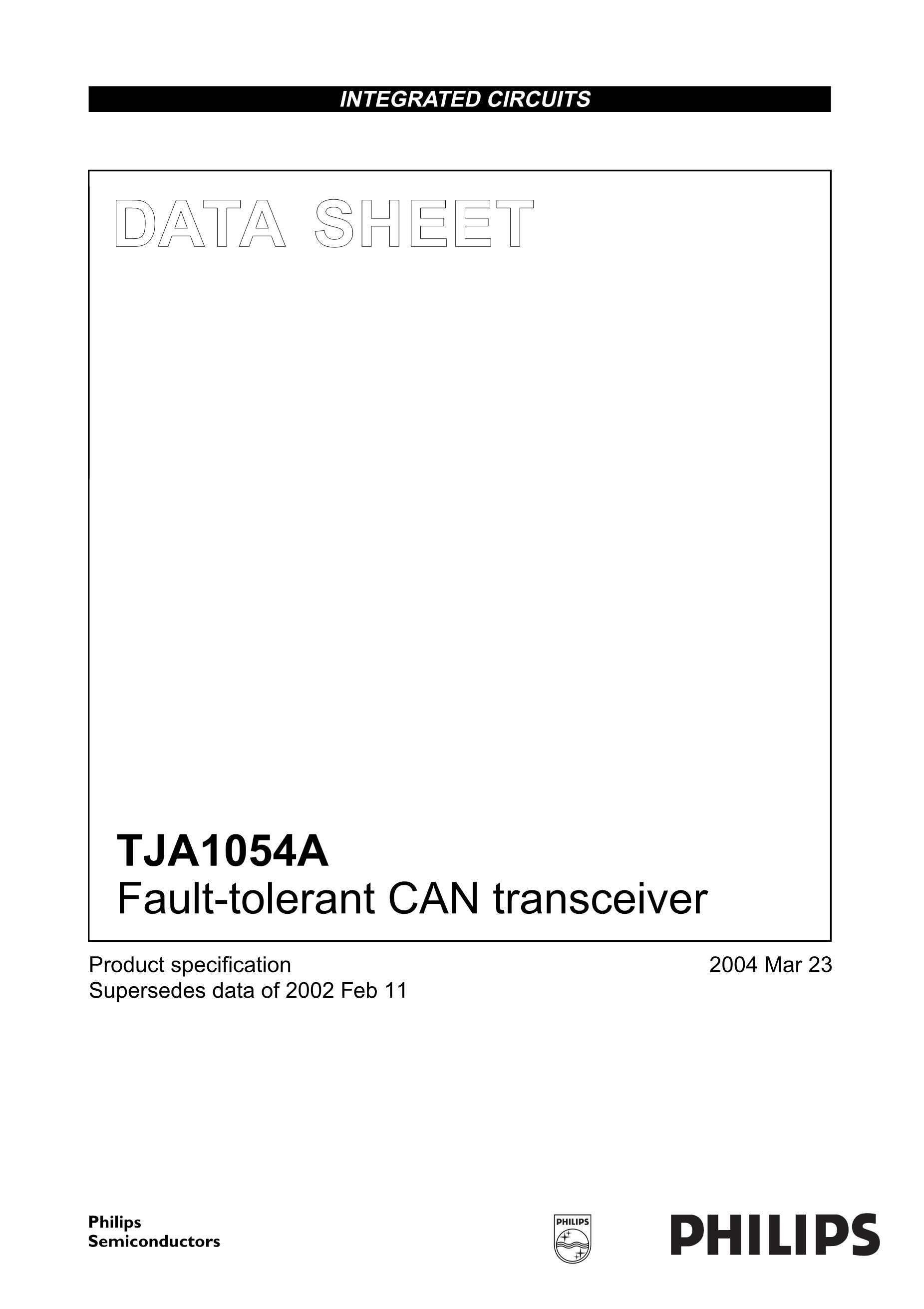 TJA1041T/VM,512's pdf picture 1
