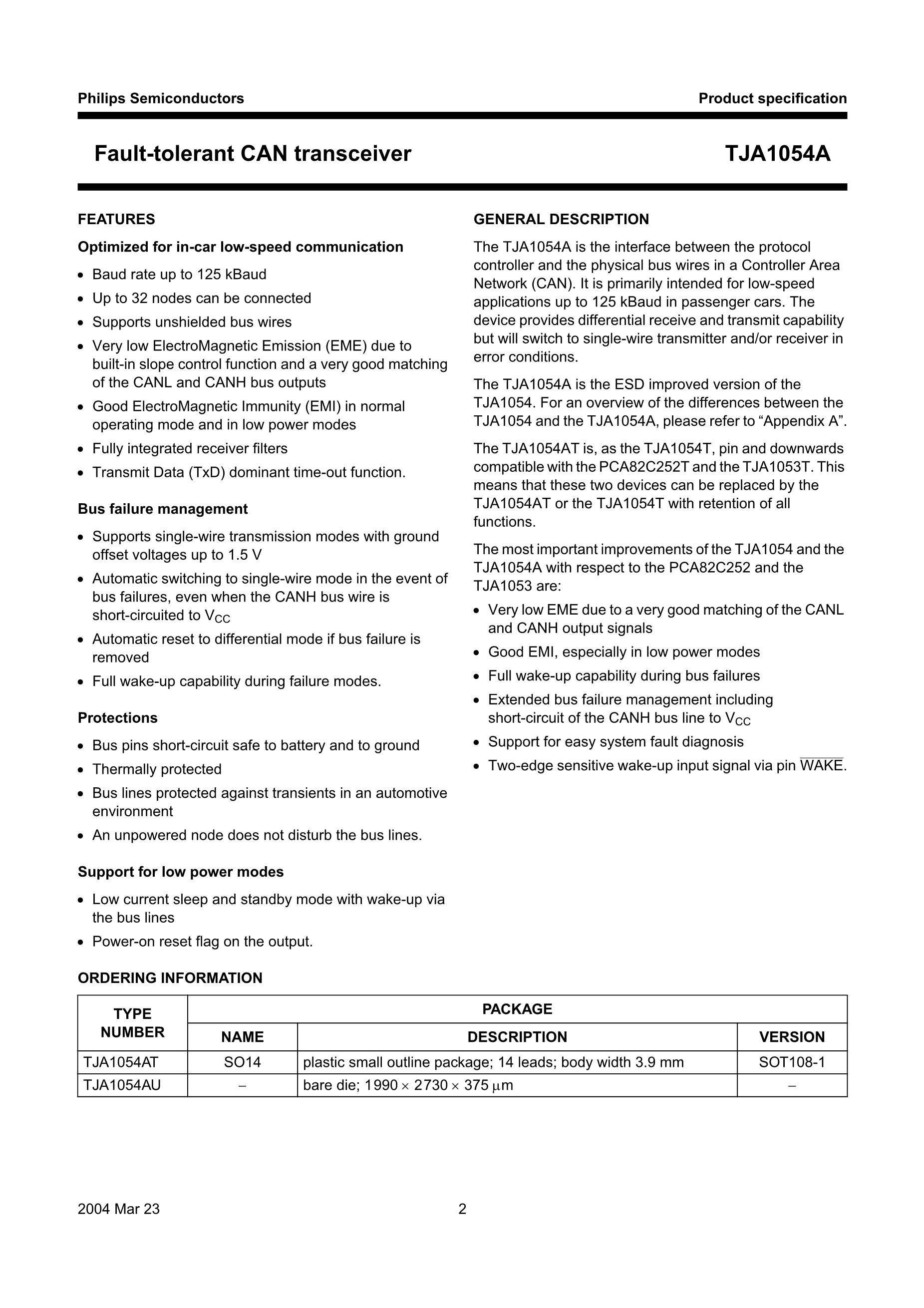 TJA1041T/VM,512's pdf picture 2