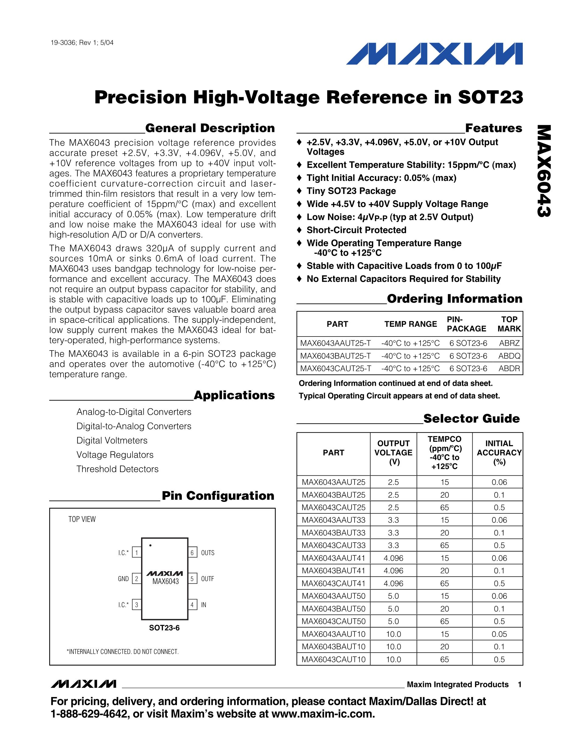 MAX6678AEP92+T's pdf picture 1