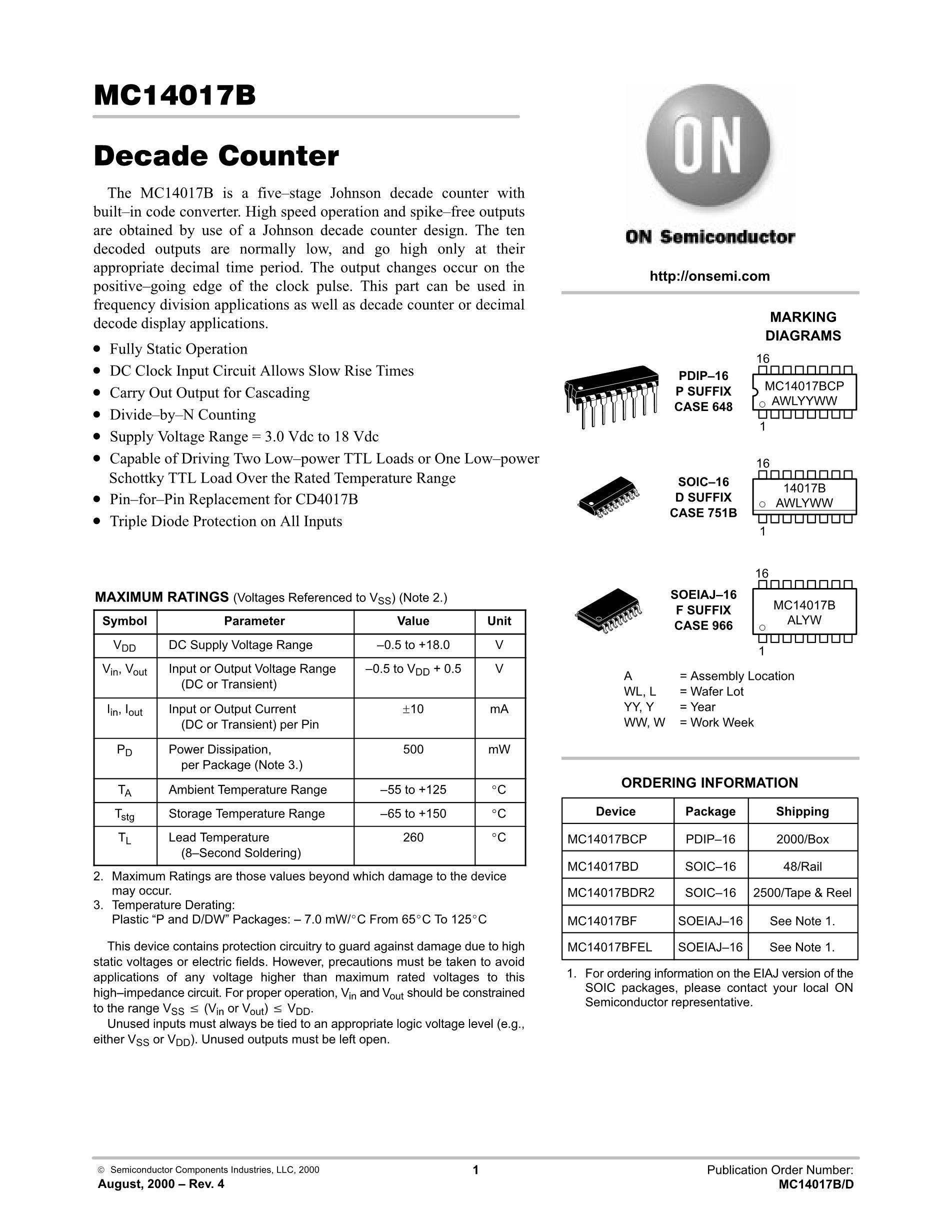 MC14017BD's pdf picture 1