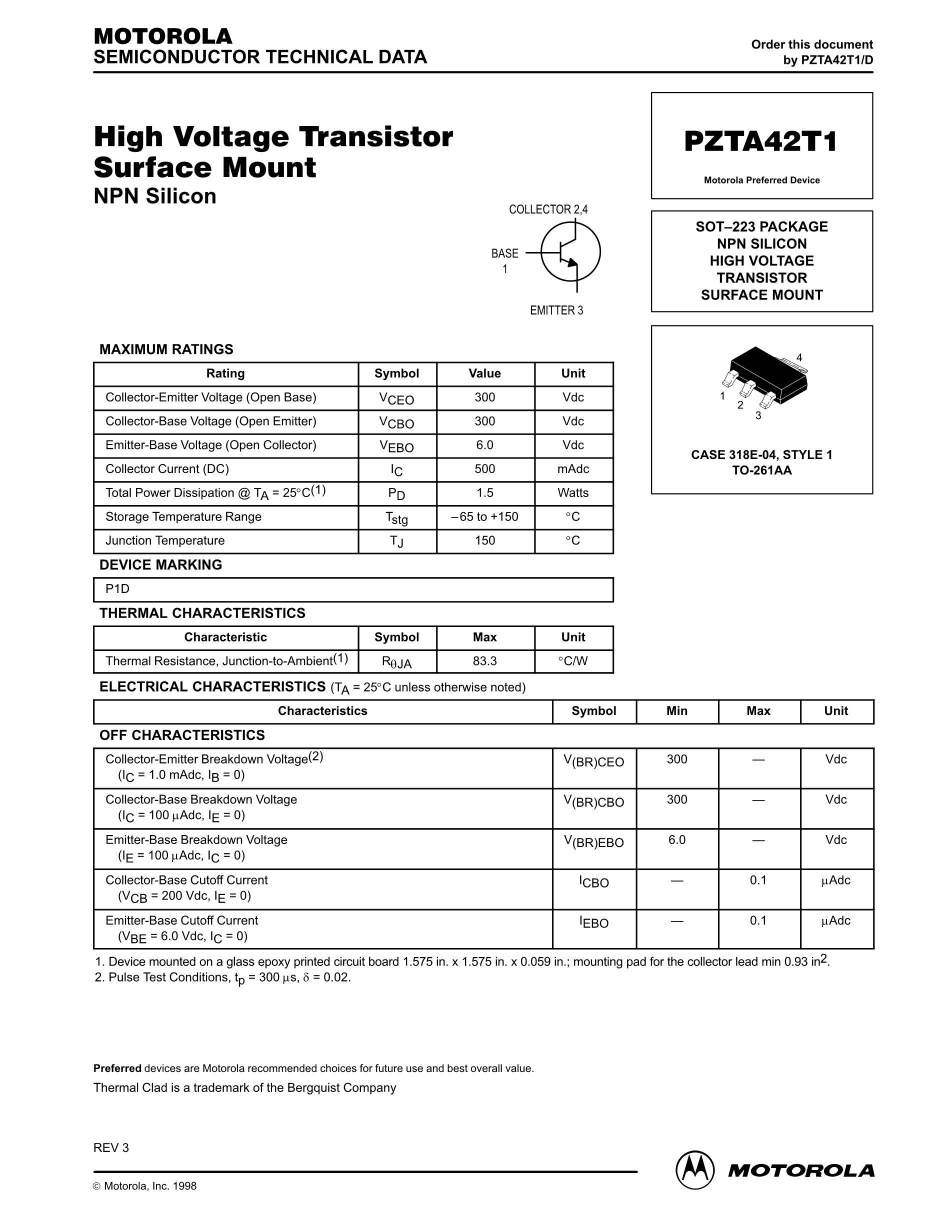 PZTA42T1's pdf picture 1
