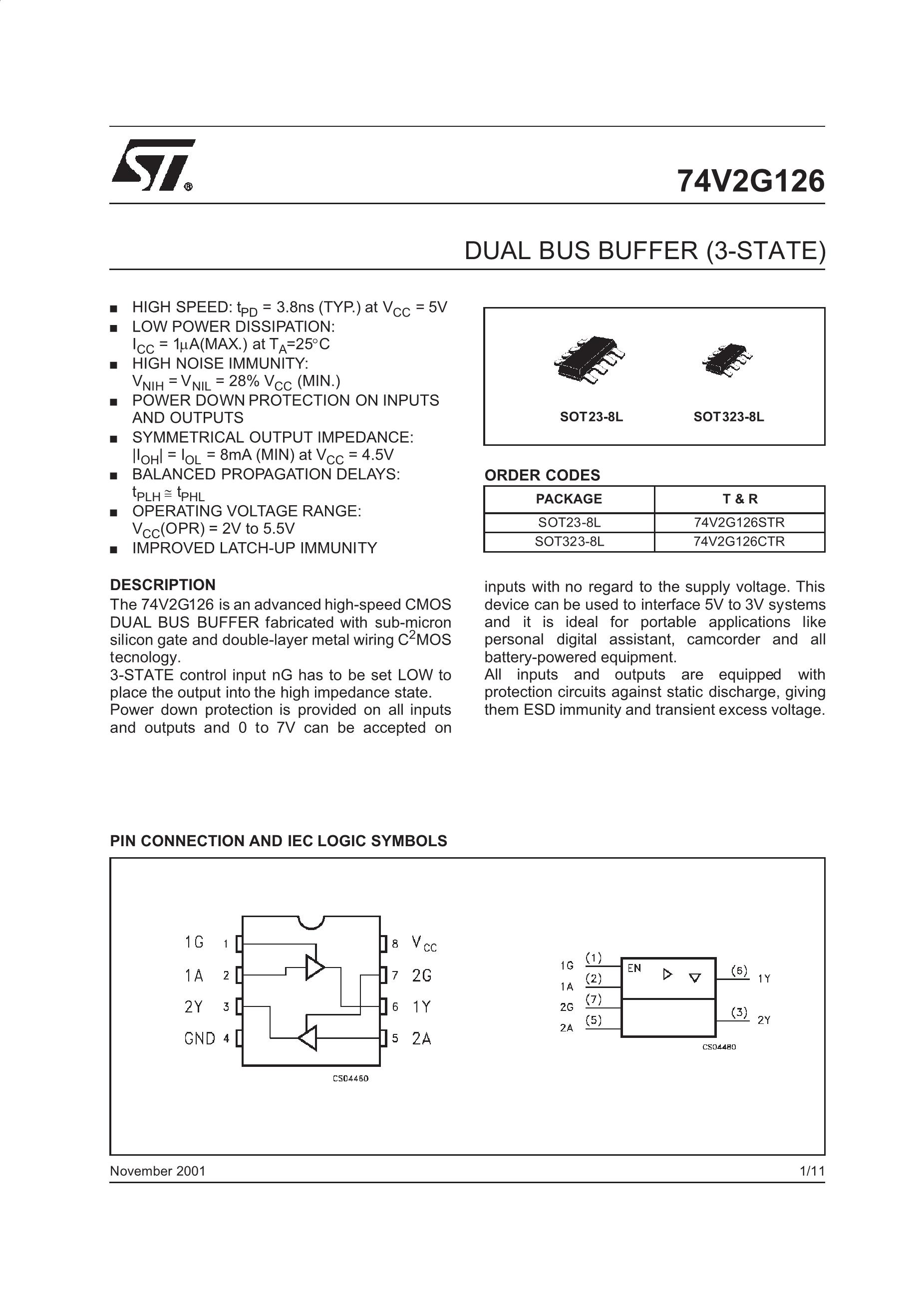 74V2G70STR's pdf picture 1