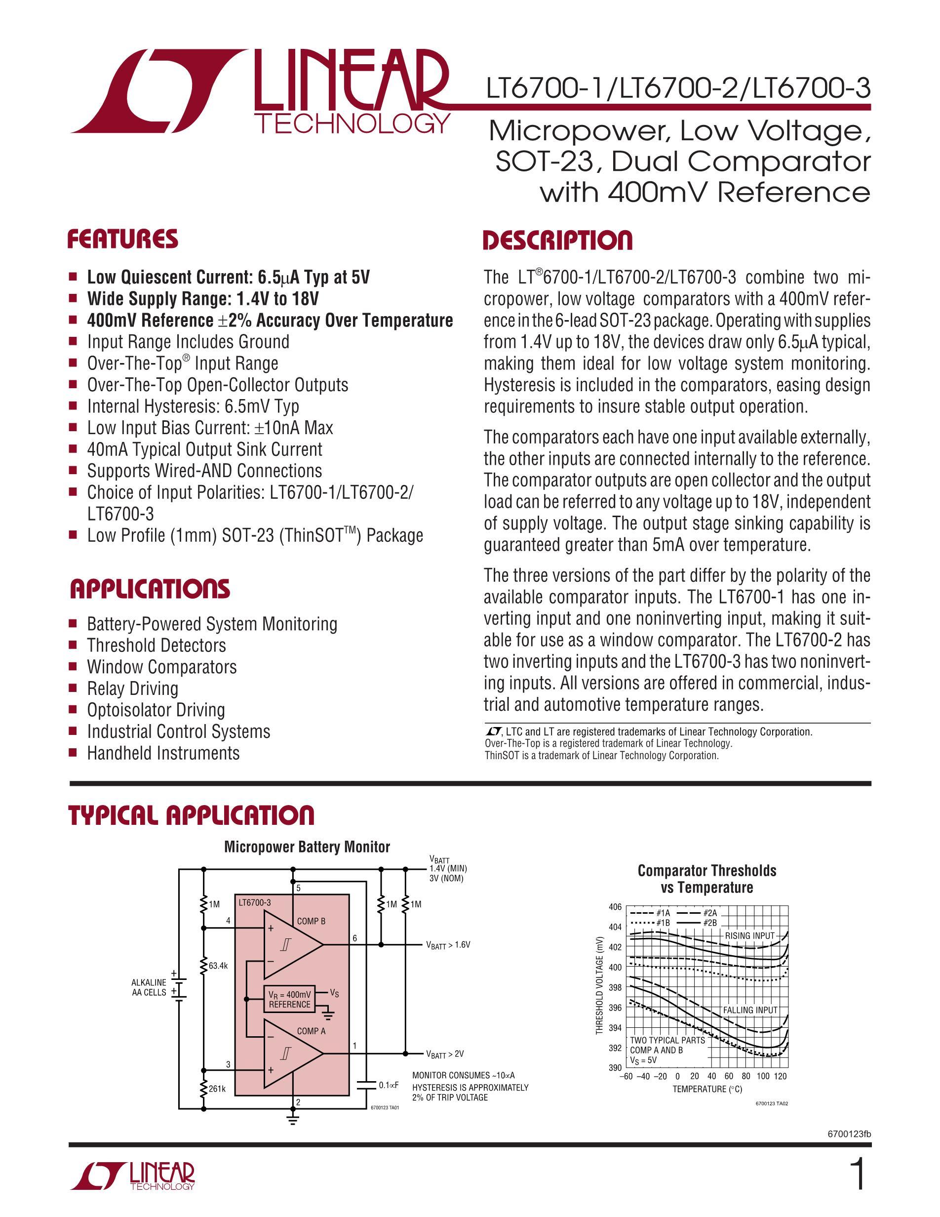 LT6703HVCS5-3#TRPBF's pdf picture 1