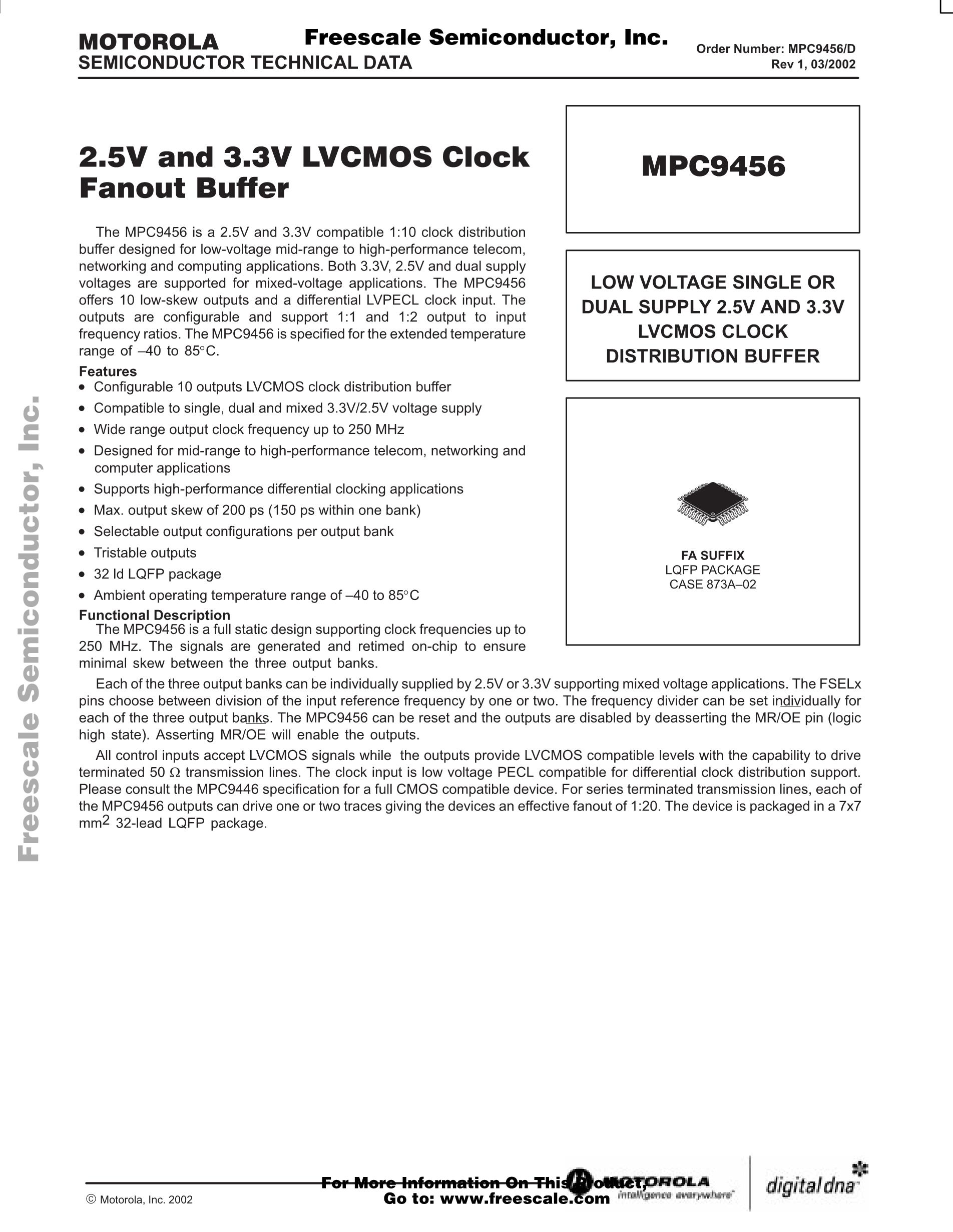 MPC9600FA's pdf picture 1
