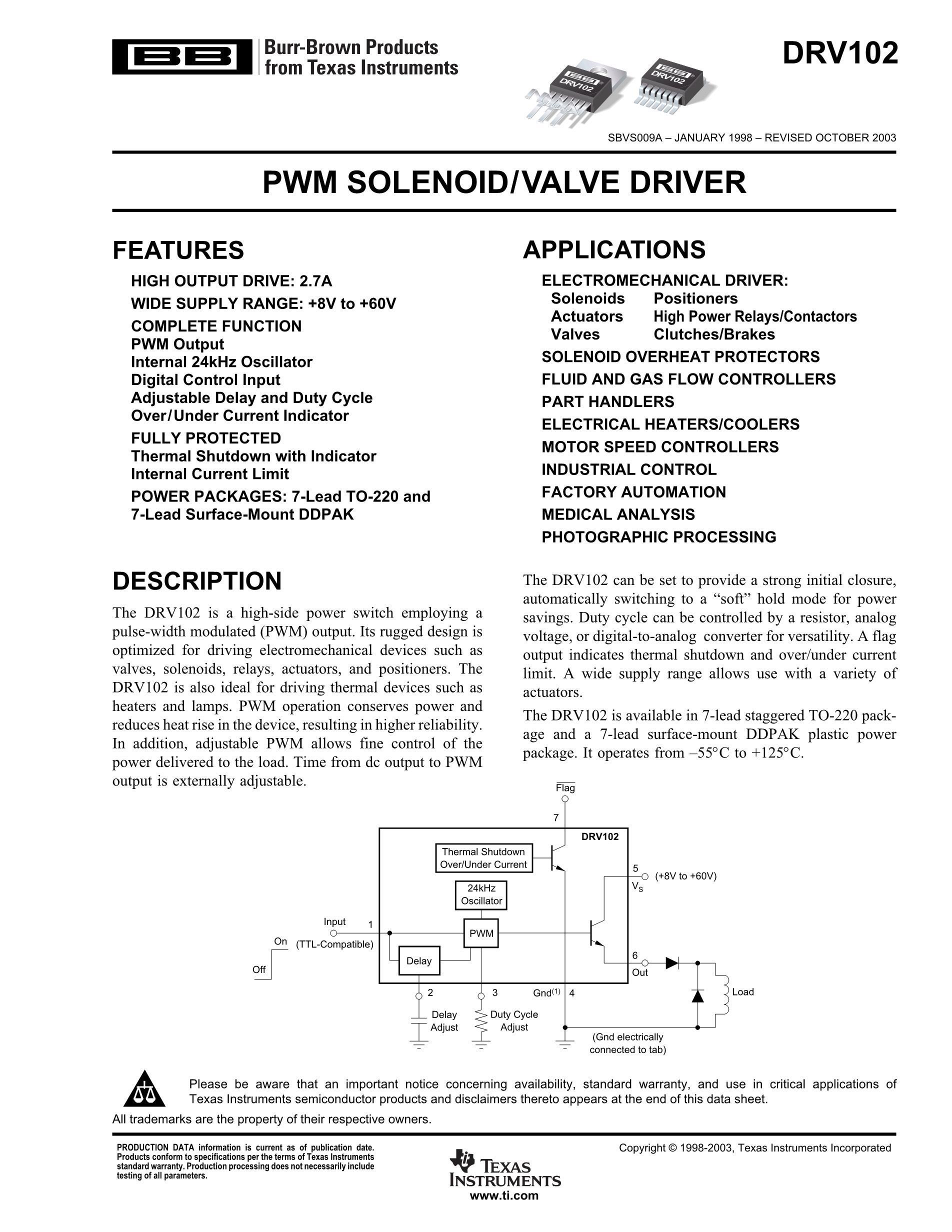 DRV134UA/1K's pdf picture 1