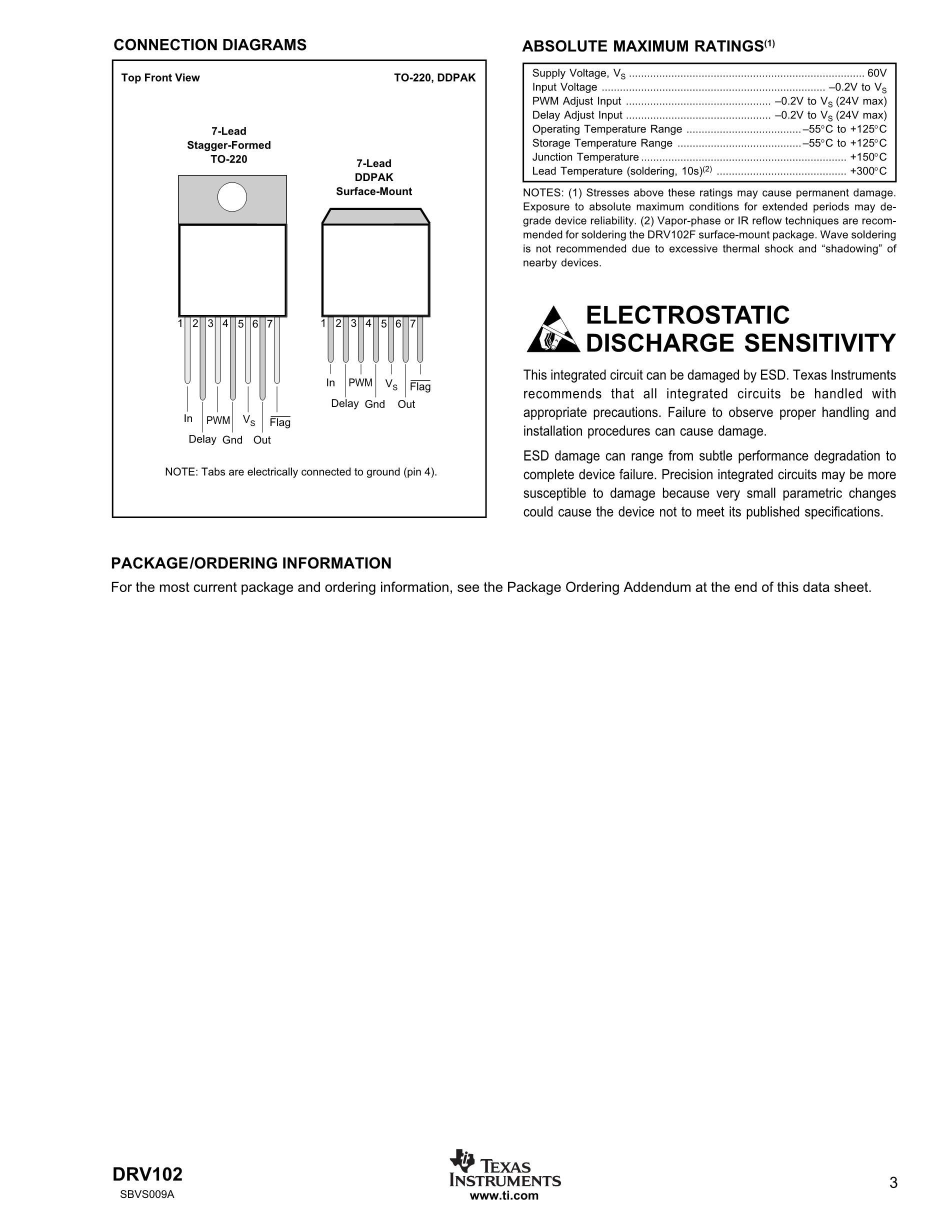 DRV134UA/1K's pdf picture 3