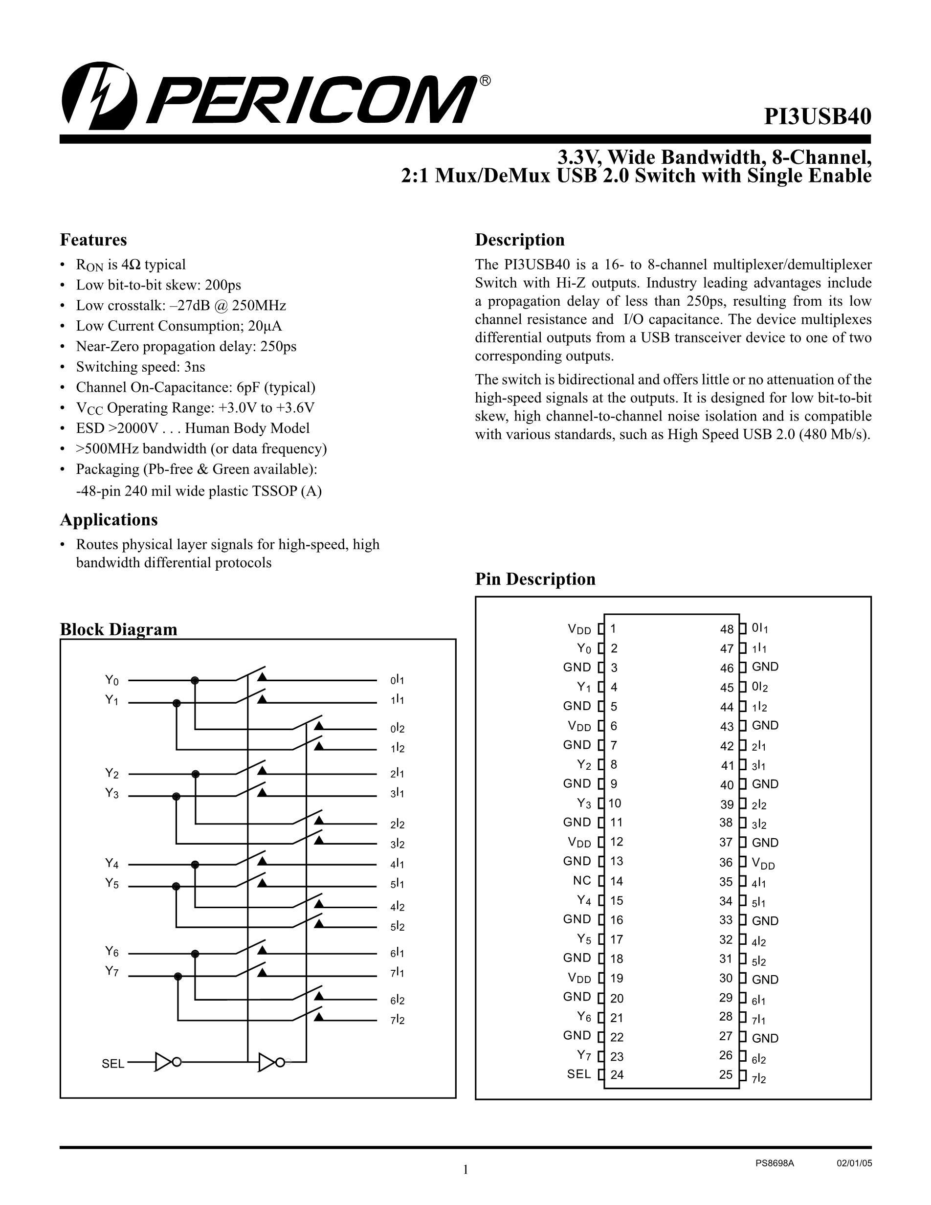 PI3USB14-ALE's pdf picture 1
