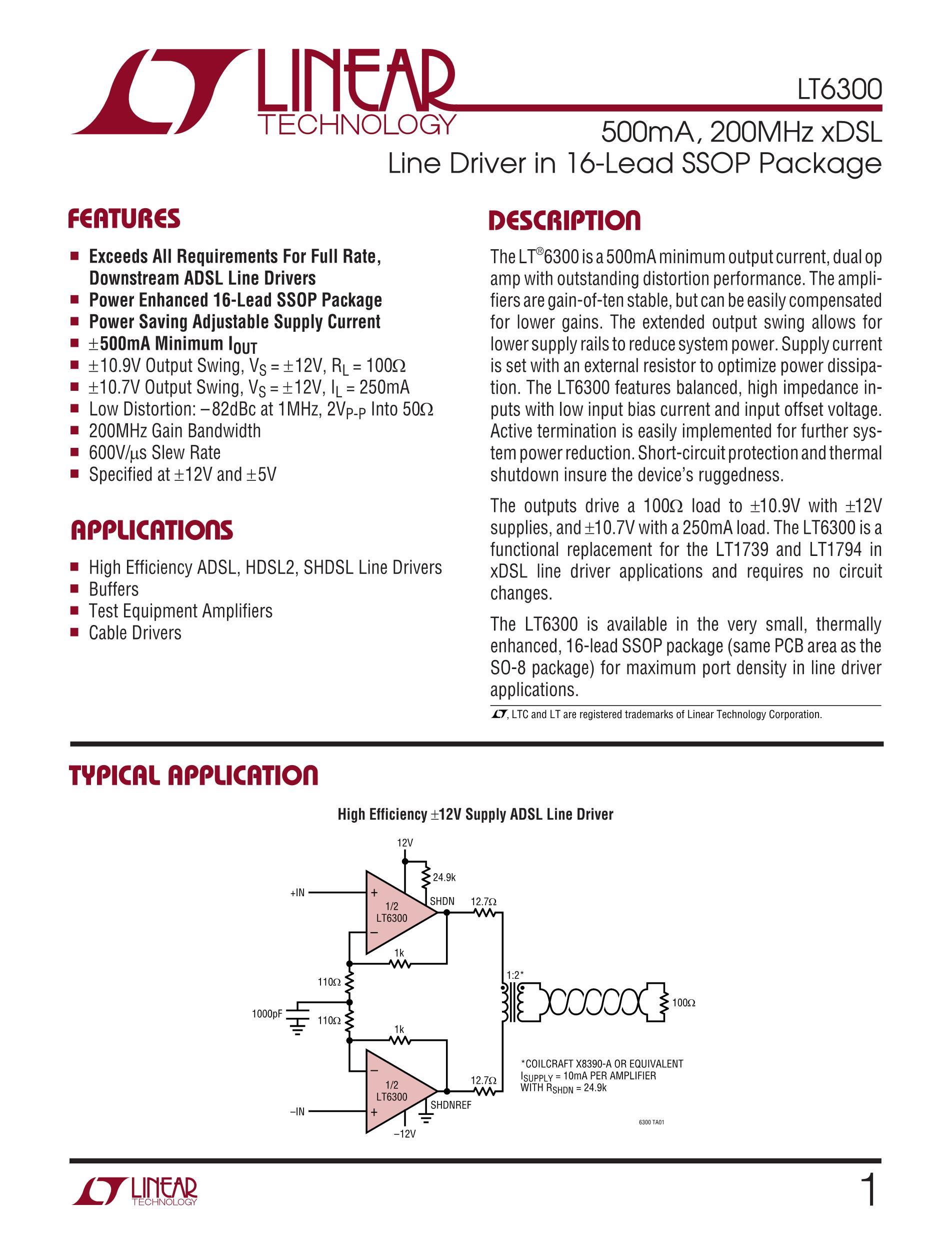 LT6375HDF#PBF's pdf picture 1