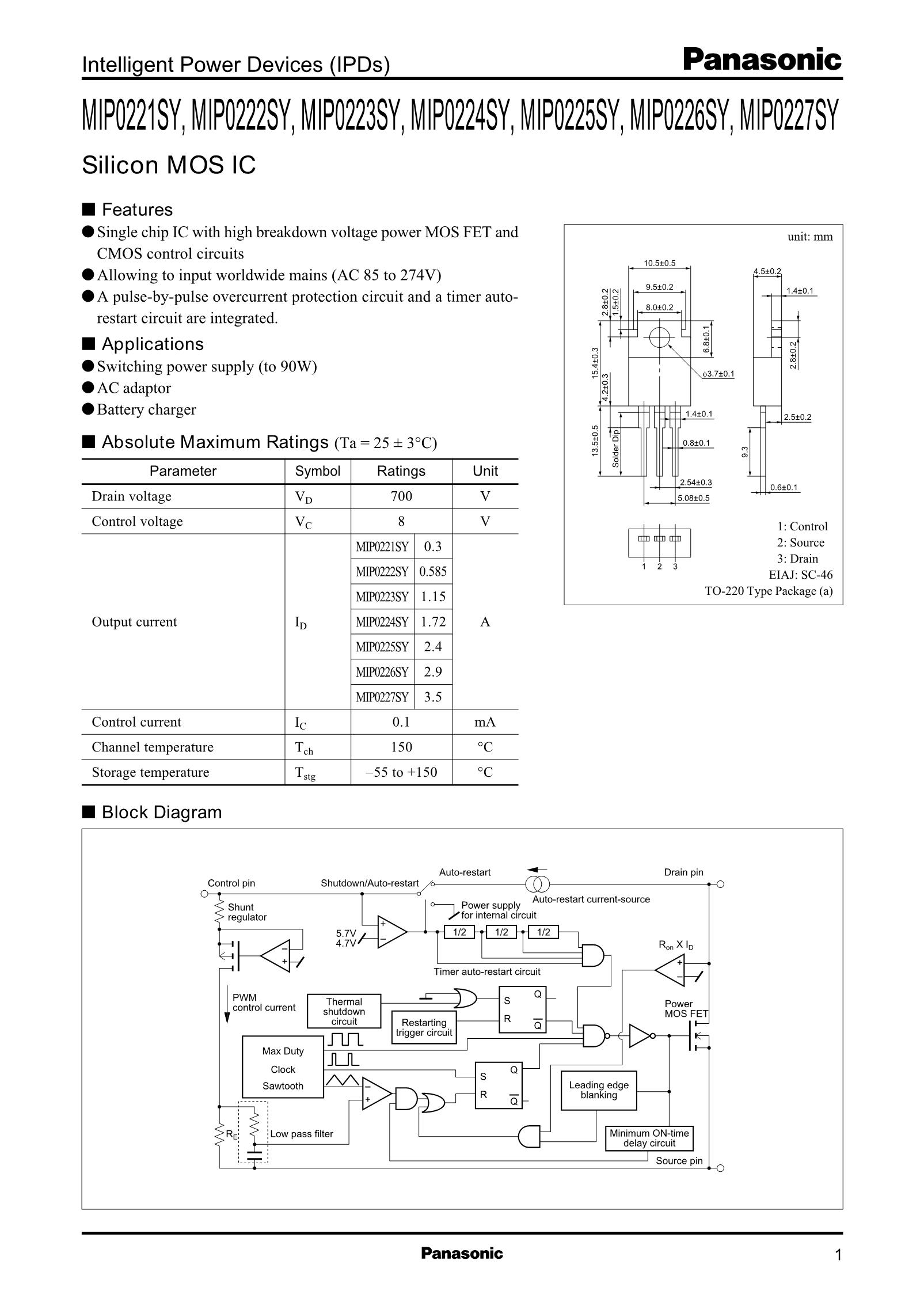 MIP0101SY's pdf picture 1