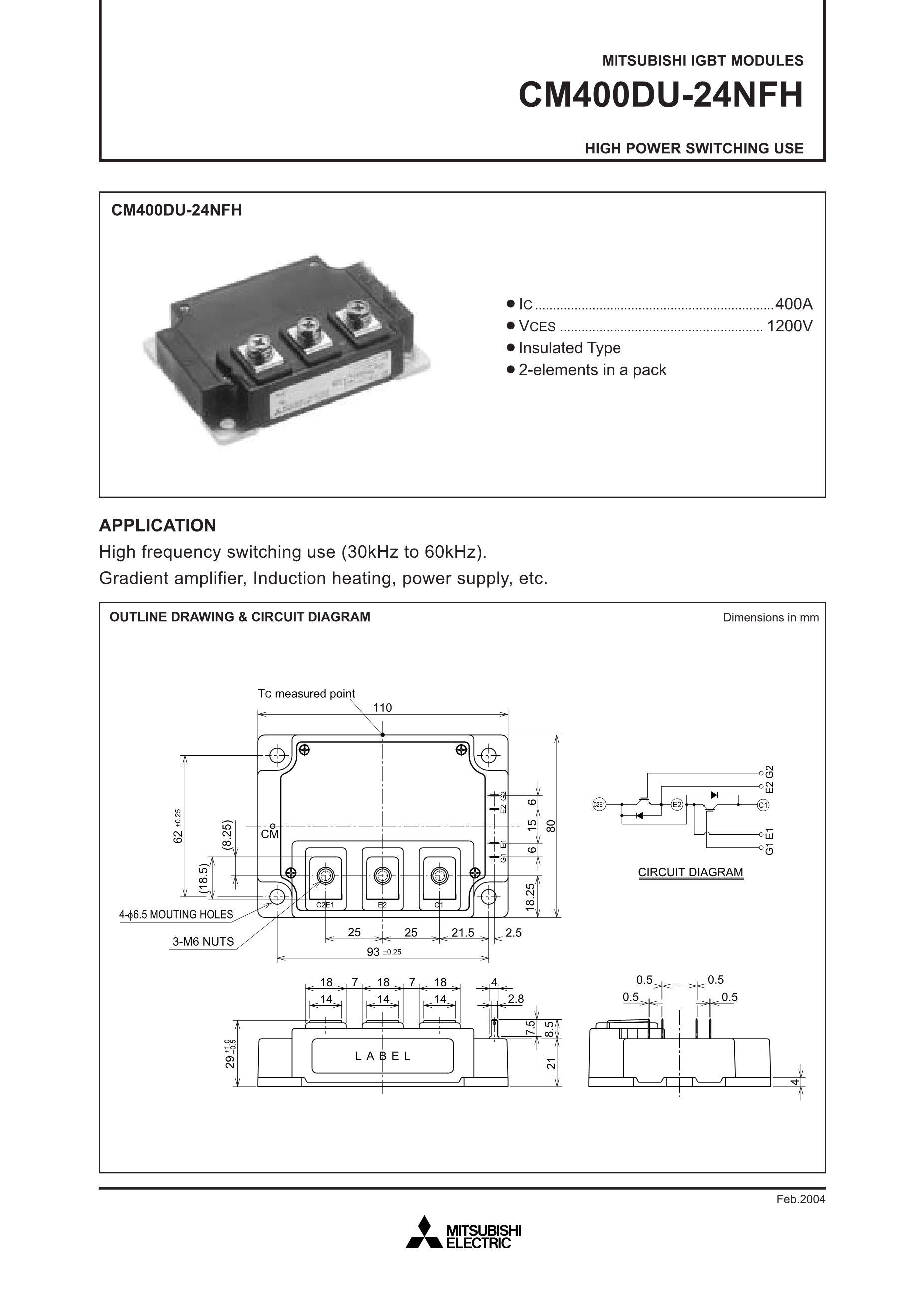 CM400HA-24H's pdf picture 1