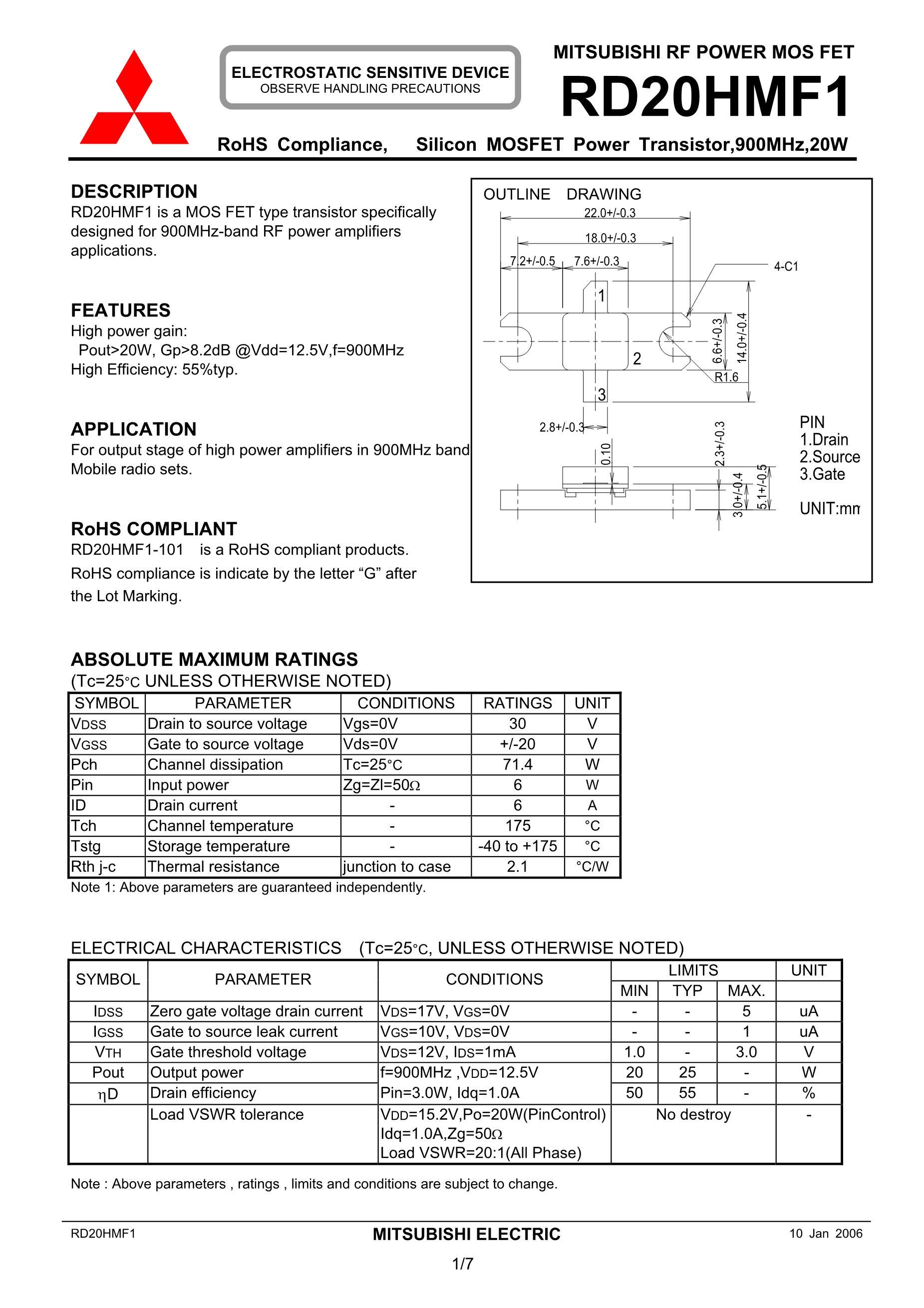 RD20HMF1's pdf picture 1